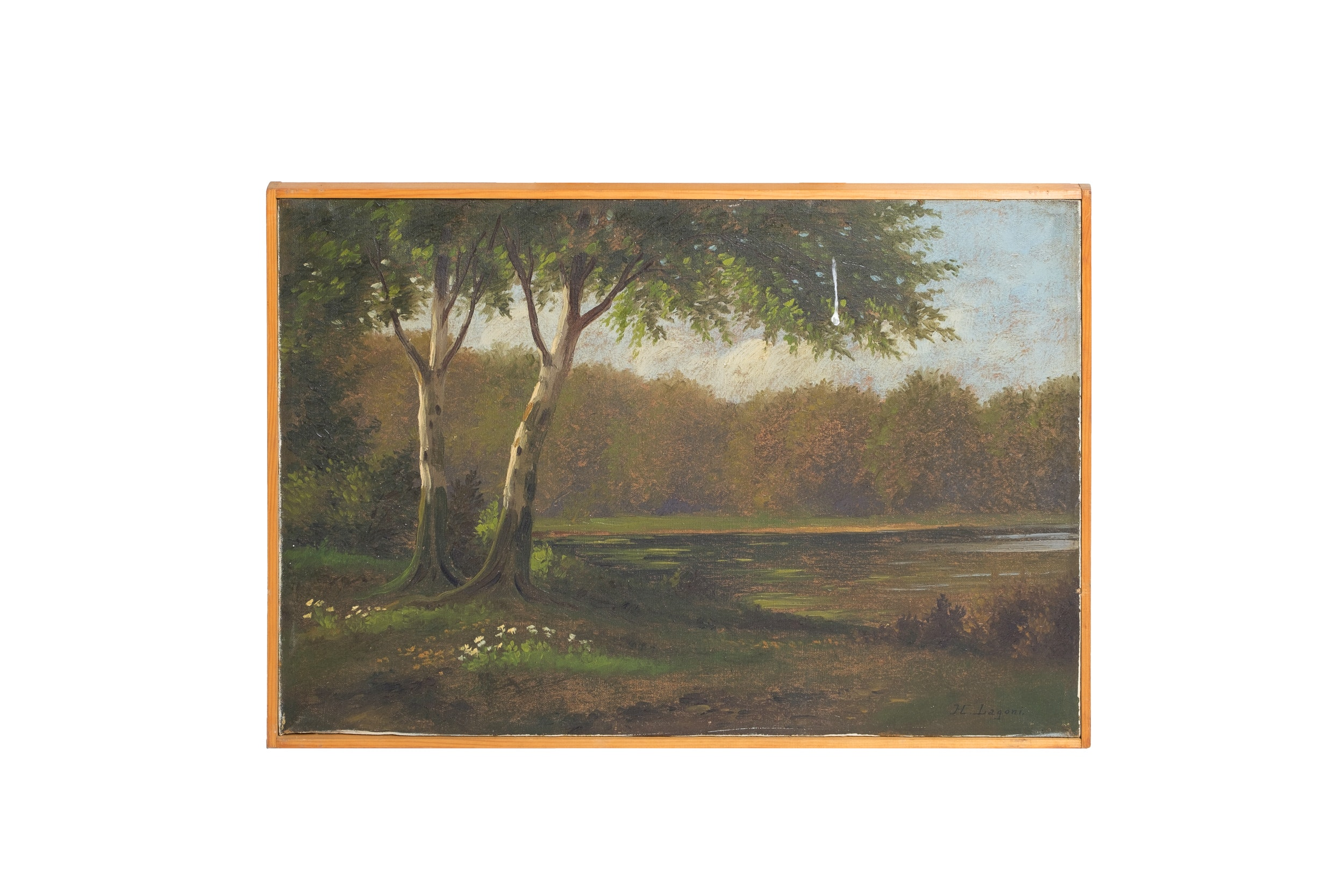 H. Lagoni Oil Painting of Landscape