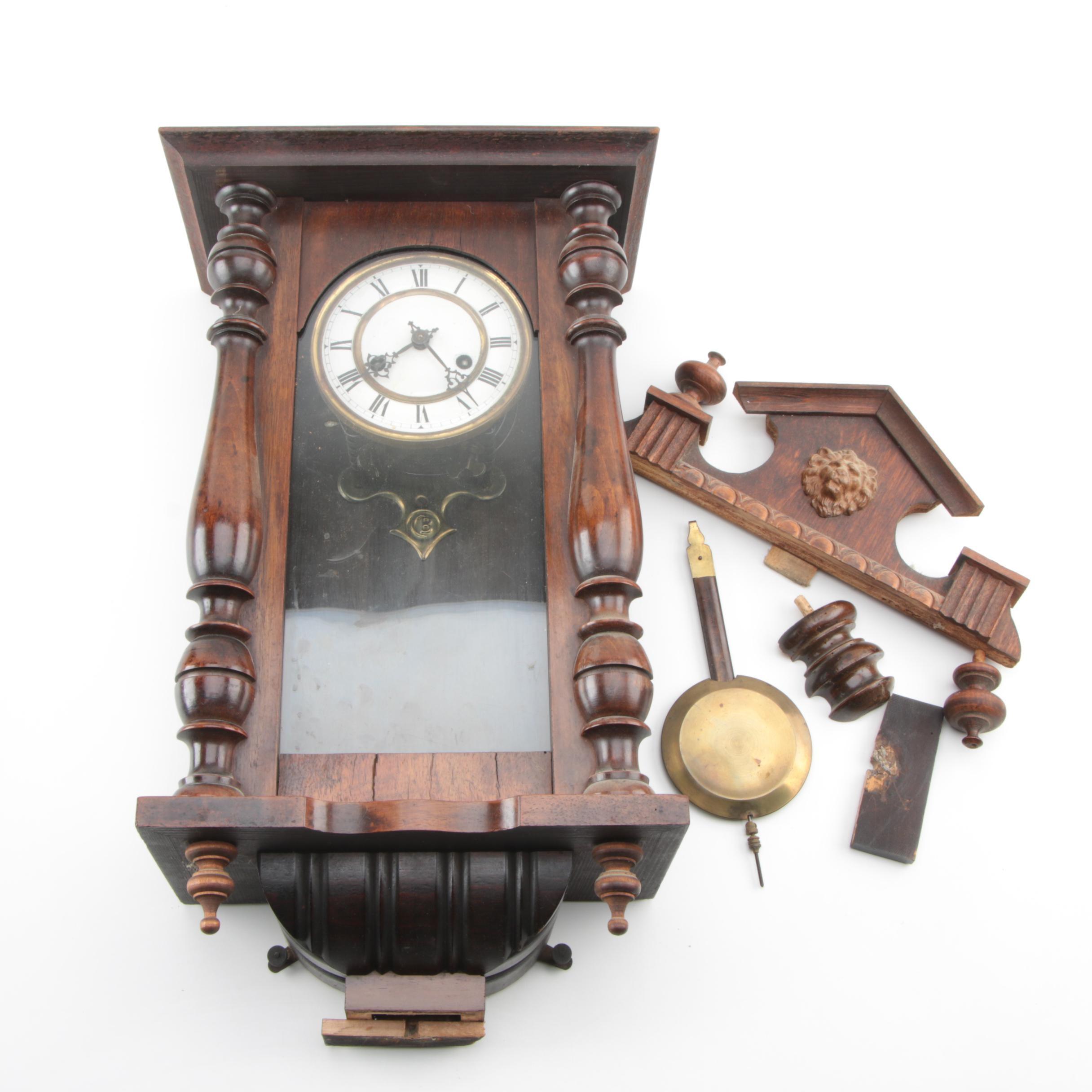 Gustav Becker Viennese Regulator Wall Clock
