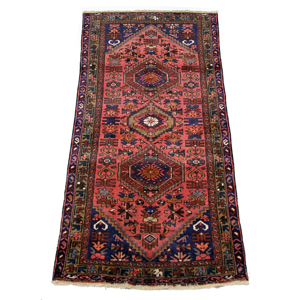 Hand-Knotted Persian Tribal-Style Long Rug