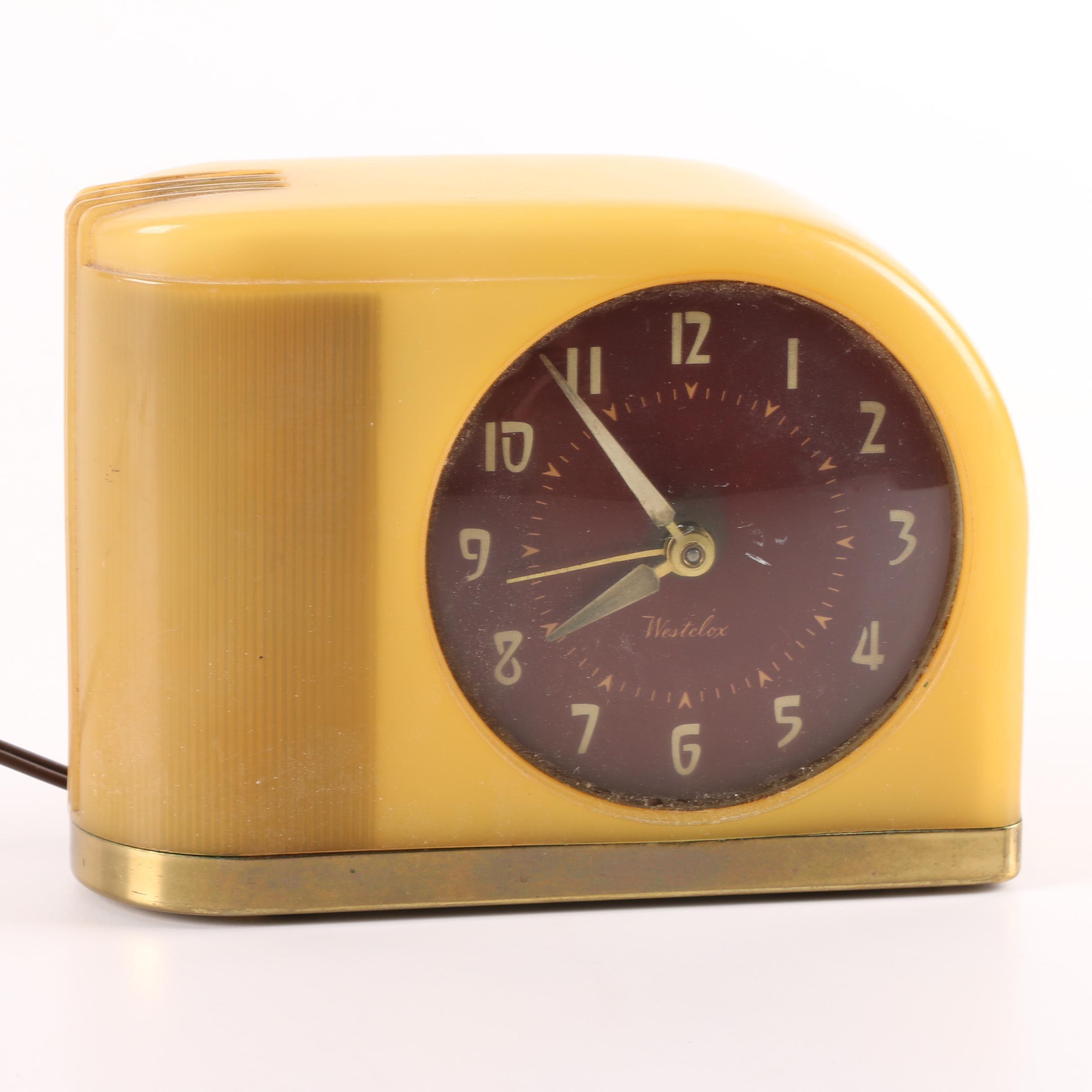 Mid Century Westclox Moon Beam Alarm Clock