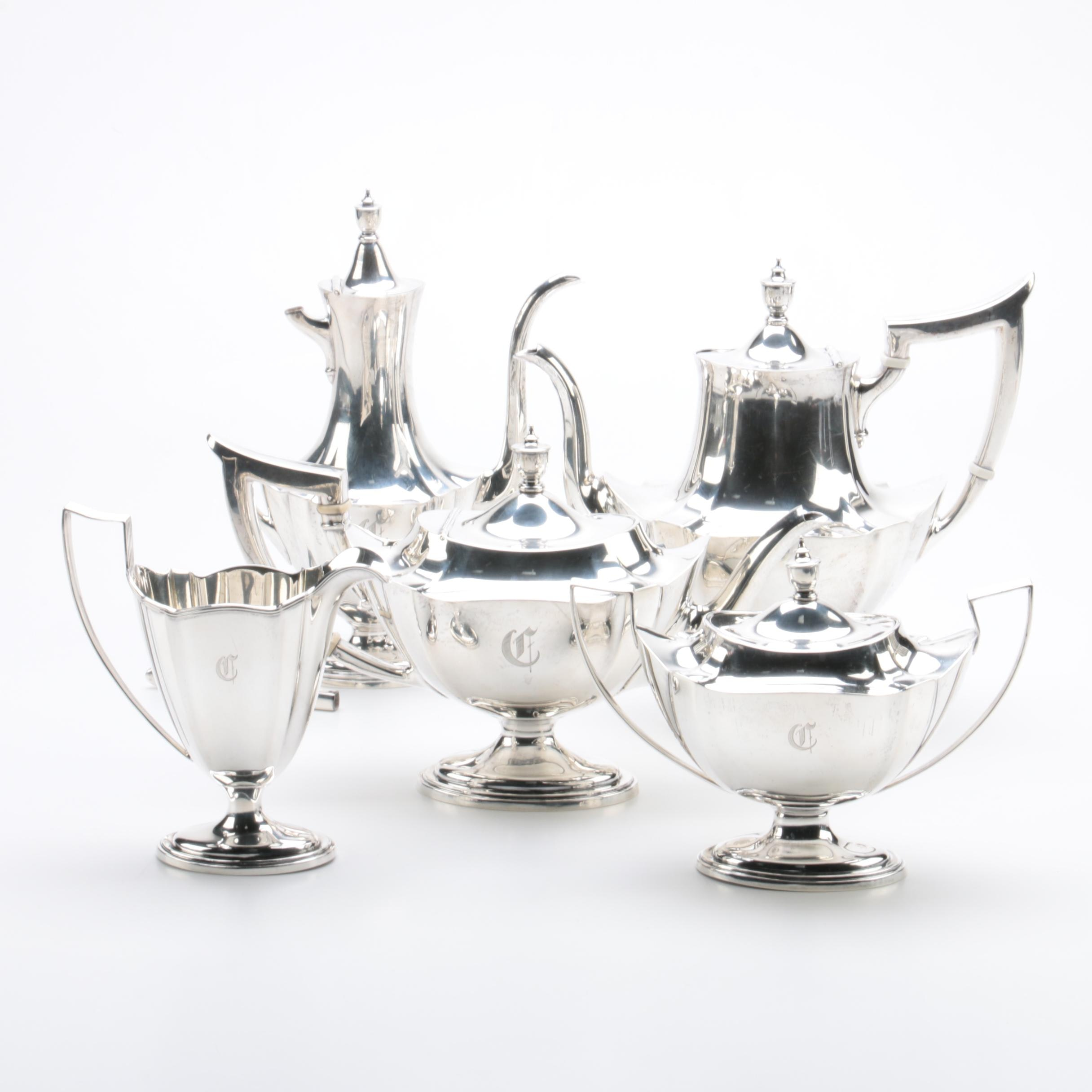 """Gorham """"Plymouth"""" Sterling Silver Coffee and Tea Service"""