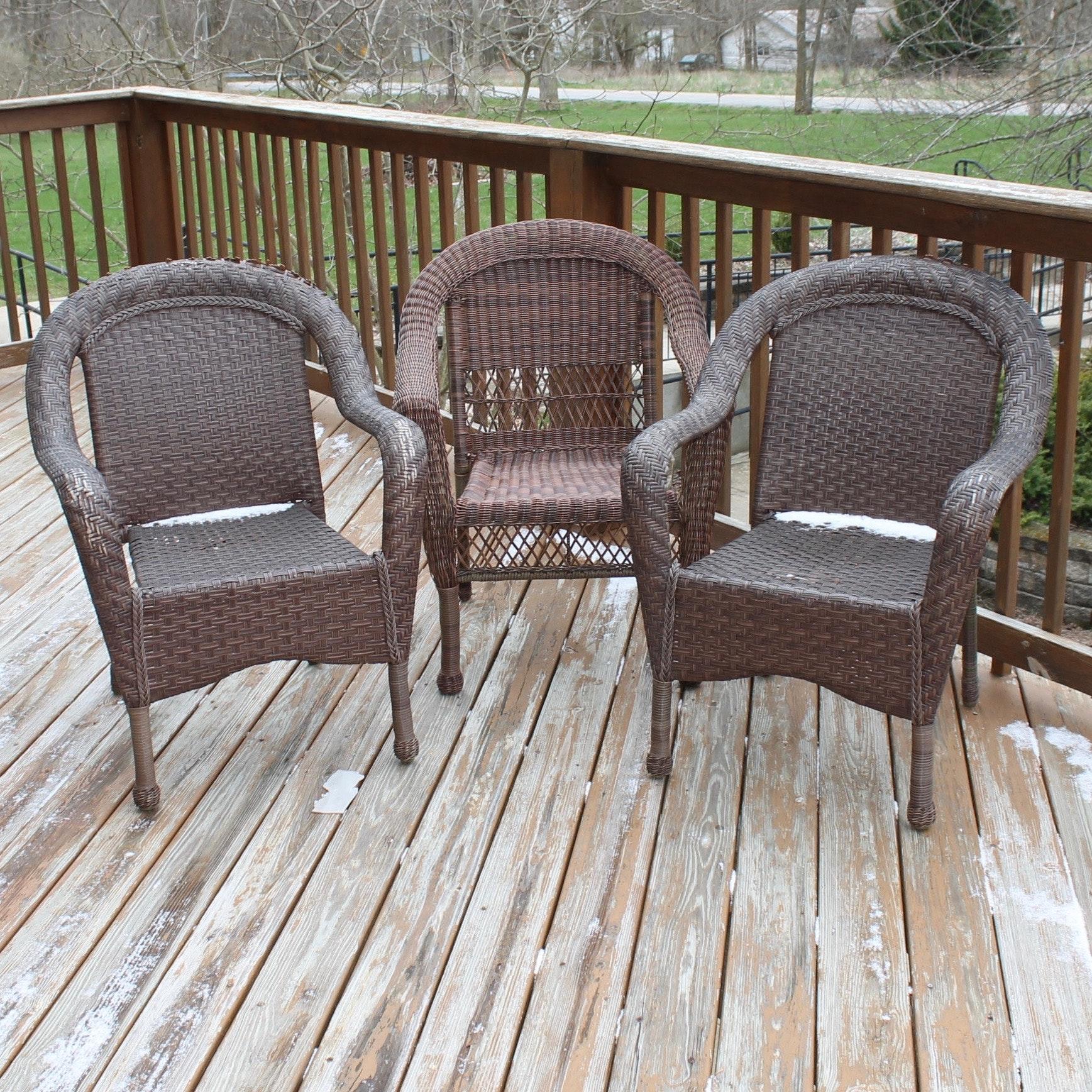 Wicker Patio Chair Grouping