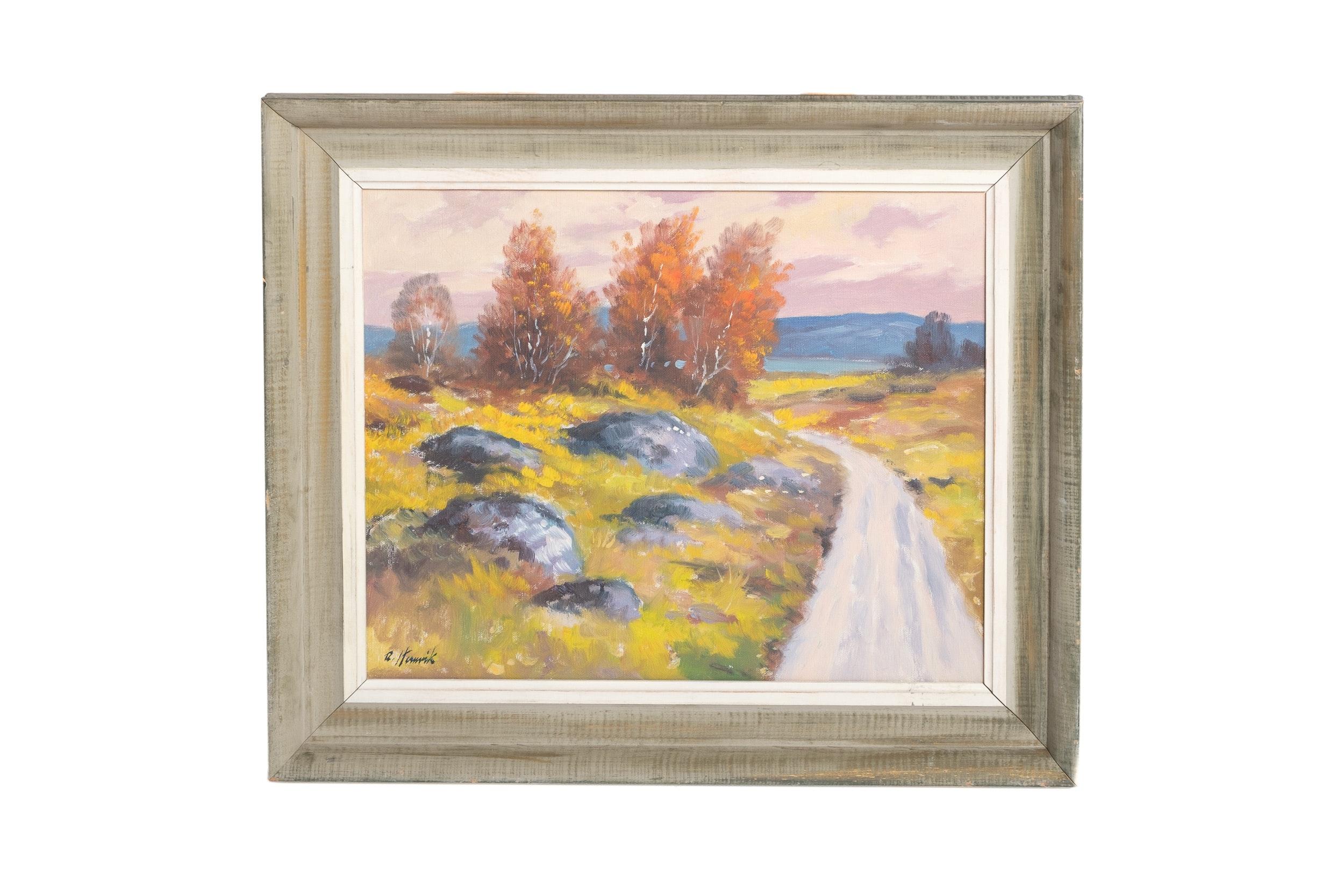 R. Hemirk Landscape Oil on Canvas