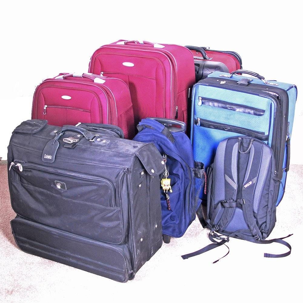 Backpacks and Suitcases with Samsonite, Dakota and Nine West