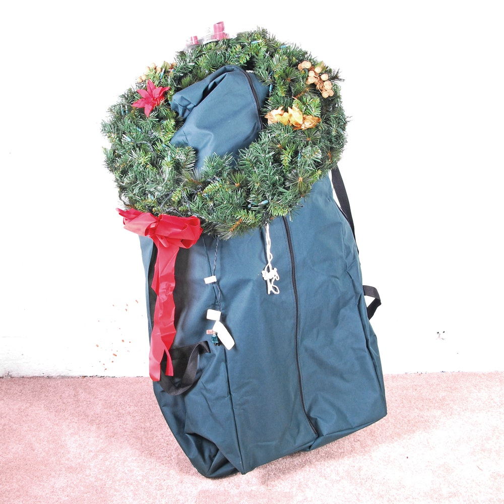 Dunhill Christmas Tree in a Duffel Bag