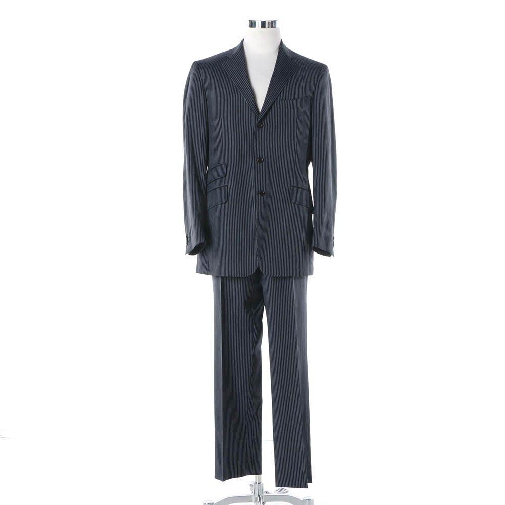 Men's Etro Milano Wool Pinstripe Suit