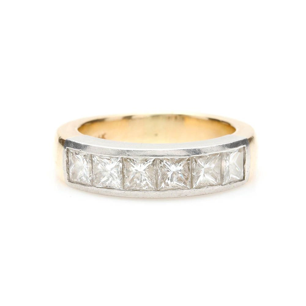 14K Yellow Gold and Platinum 1.95 CTW Diamond Ring