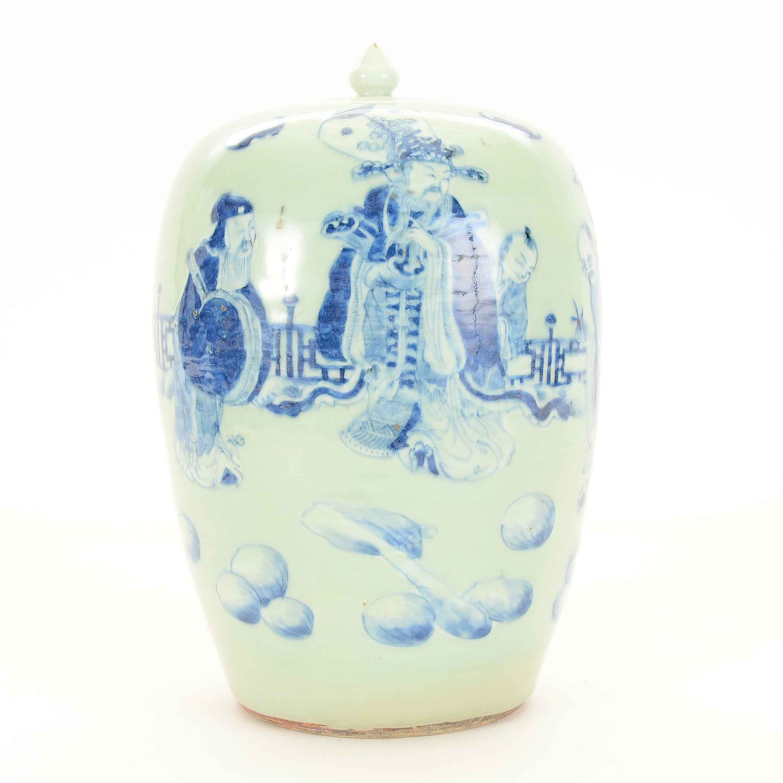 Chinese Ceramic Lidded Jar