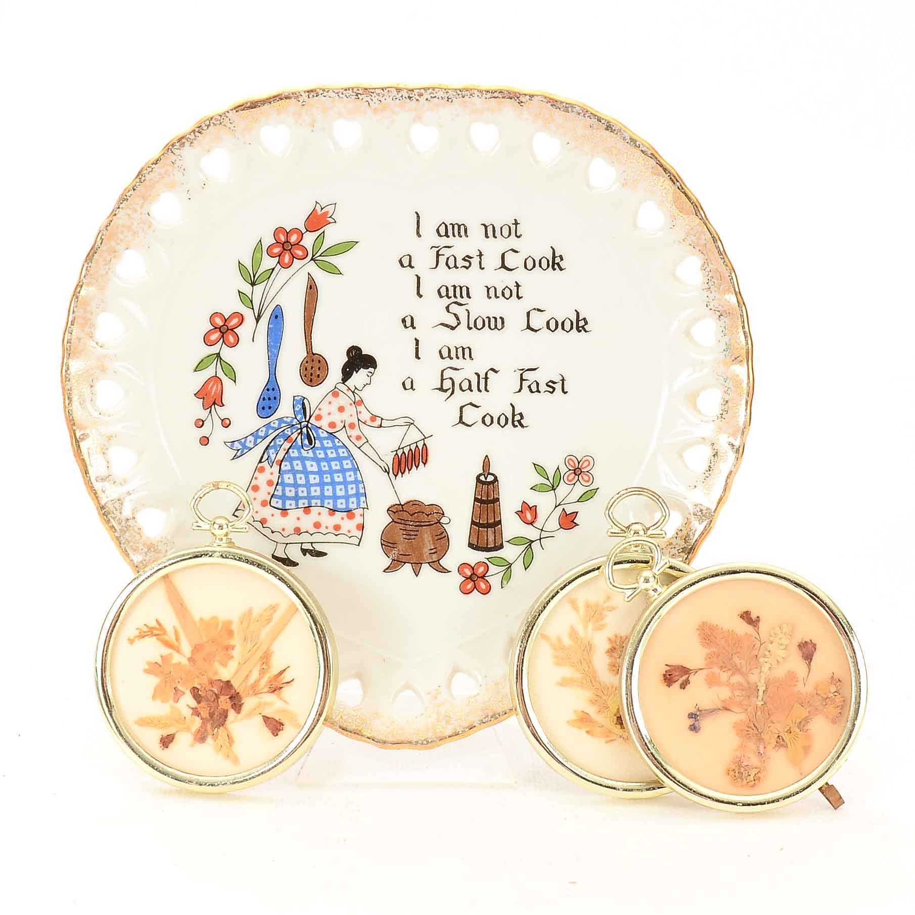 VIntage Japanese Artmart Cabinet Plate and More