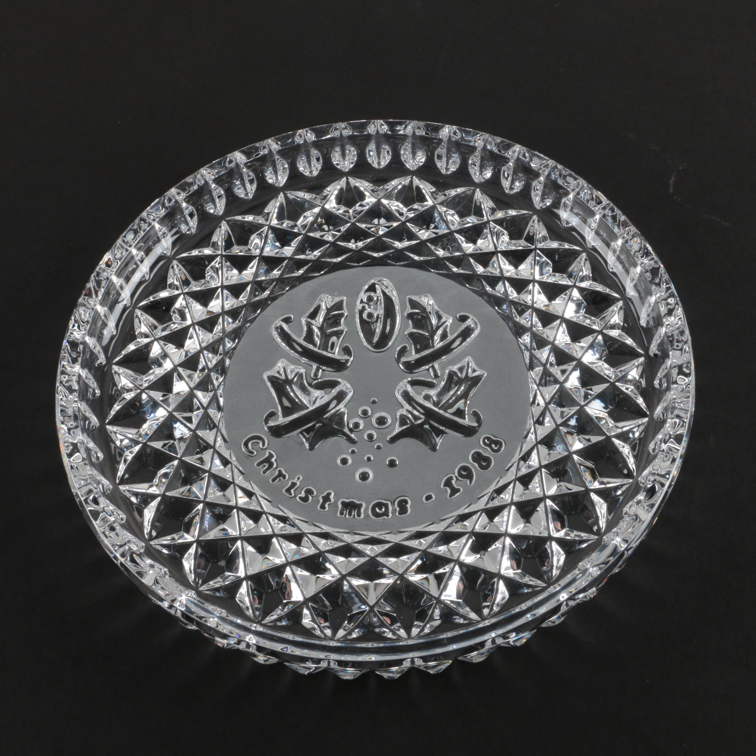 Waterford Crystal Christmas 1988 Commemorative Plate