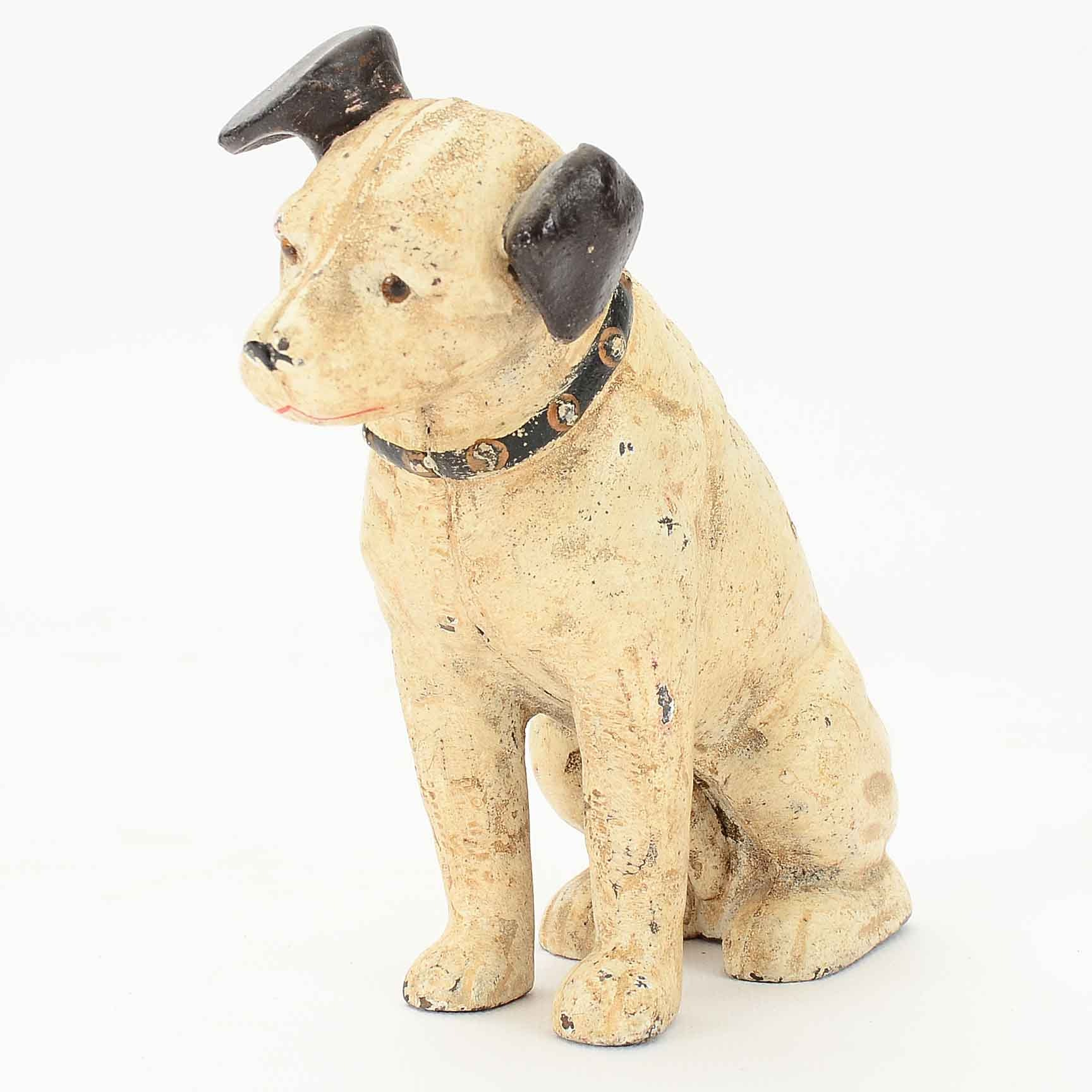 Vintage Cast Iron Dog Coin Bank