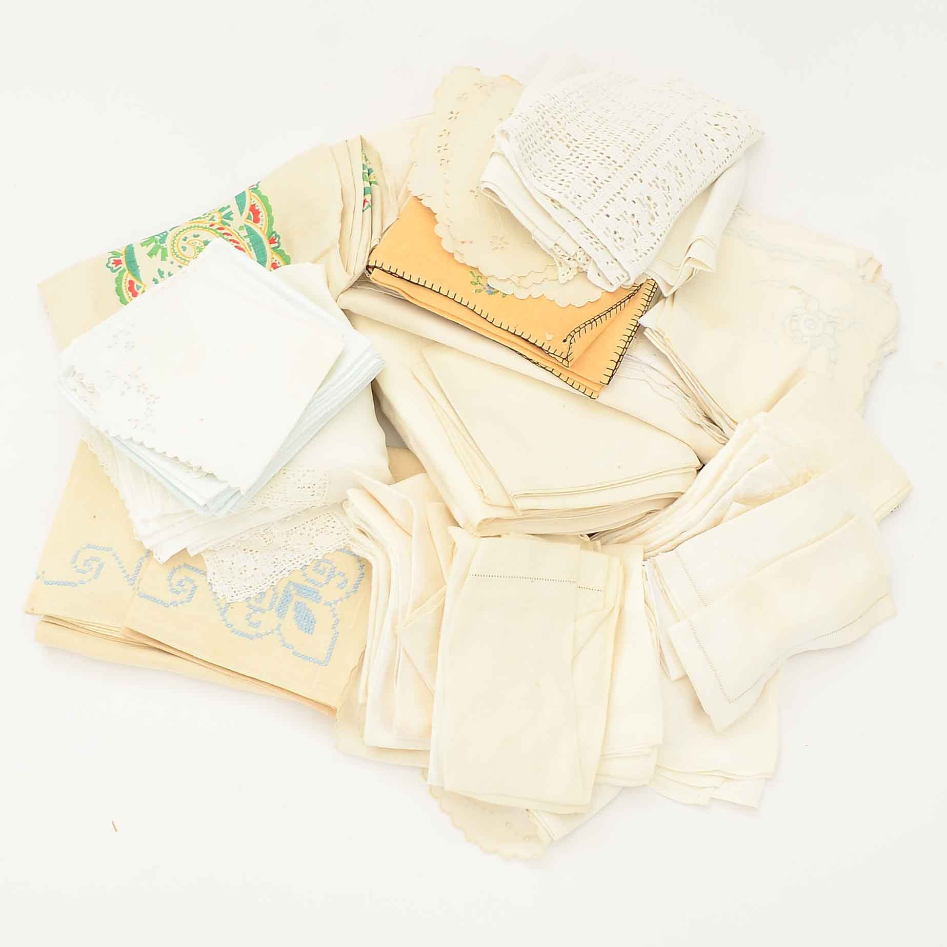 Collection of Assorted Table Linens