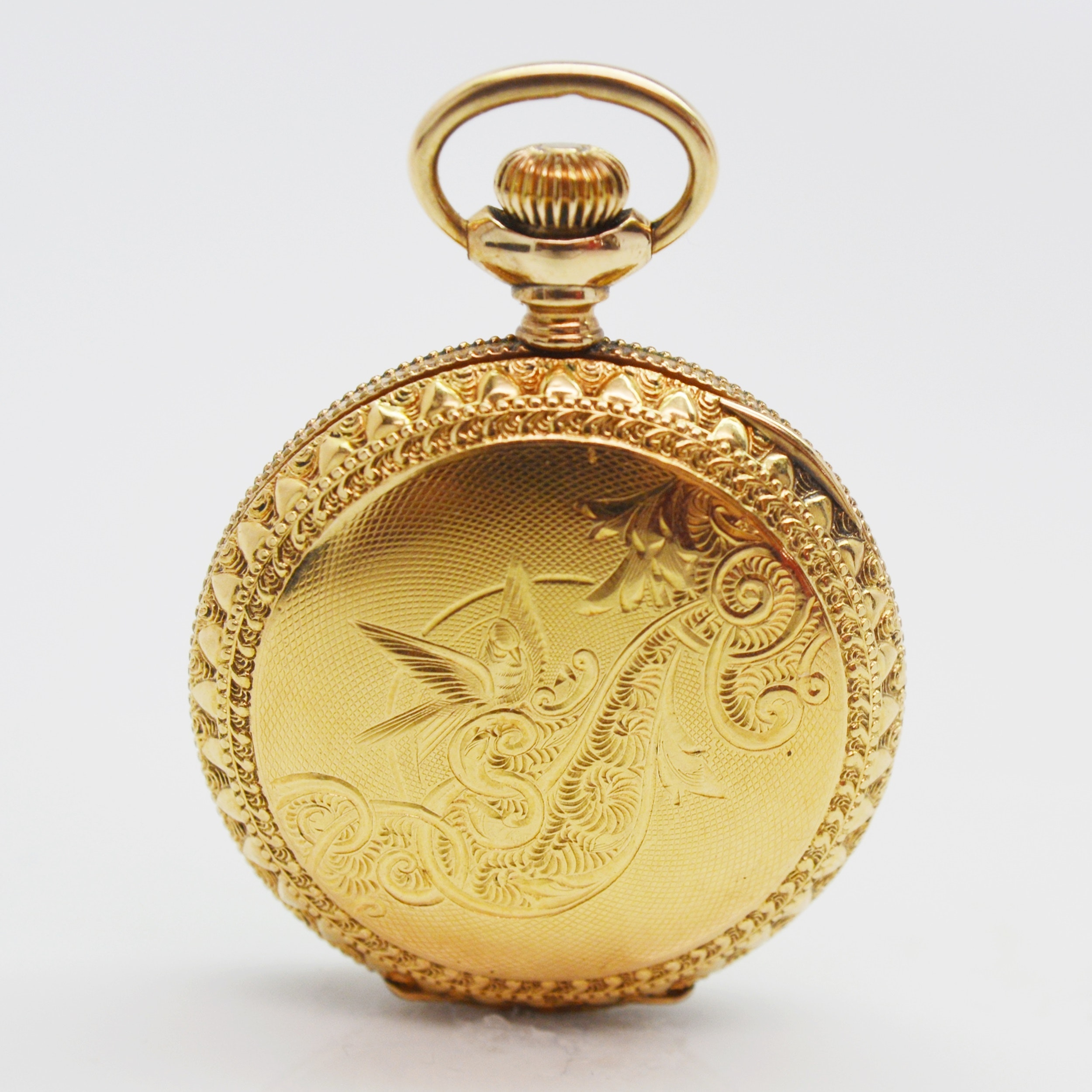 Antique 14K Yellow Gold Filled American Waltham Pocket Watch