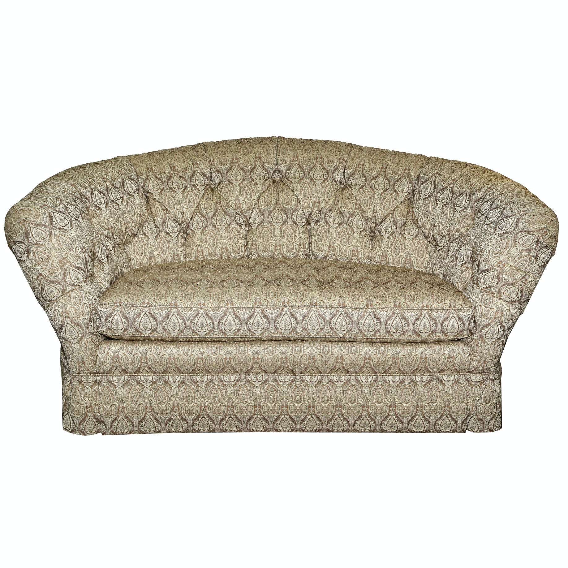 Button-Tufted Loveseat by Baker