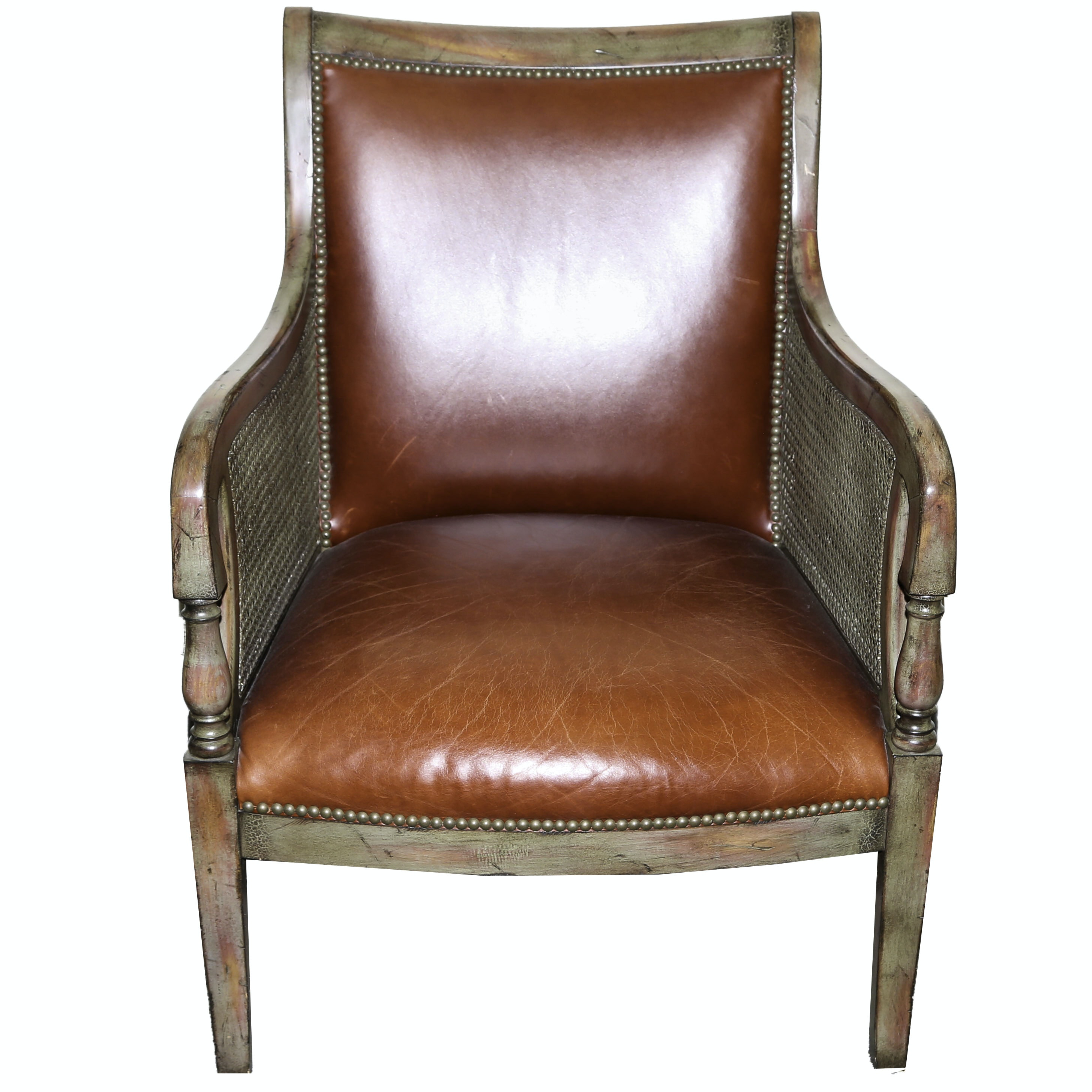 Regency Leather Armchair by Our House Designs