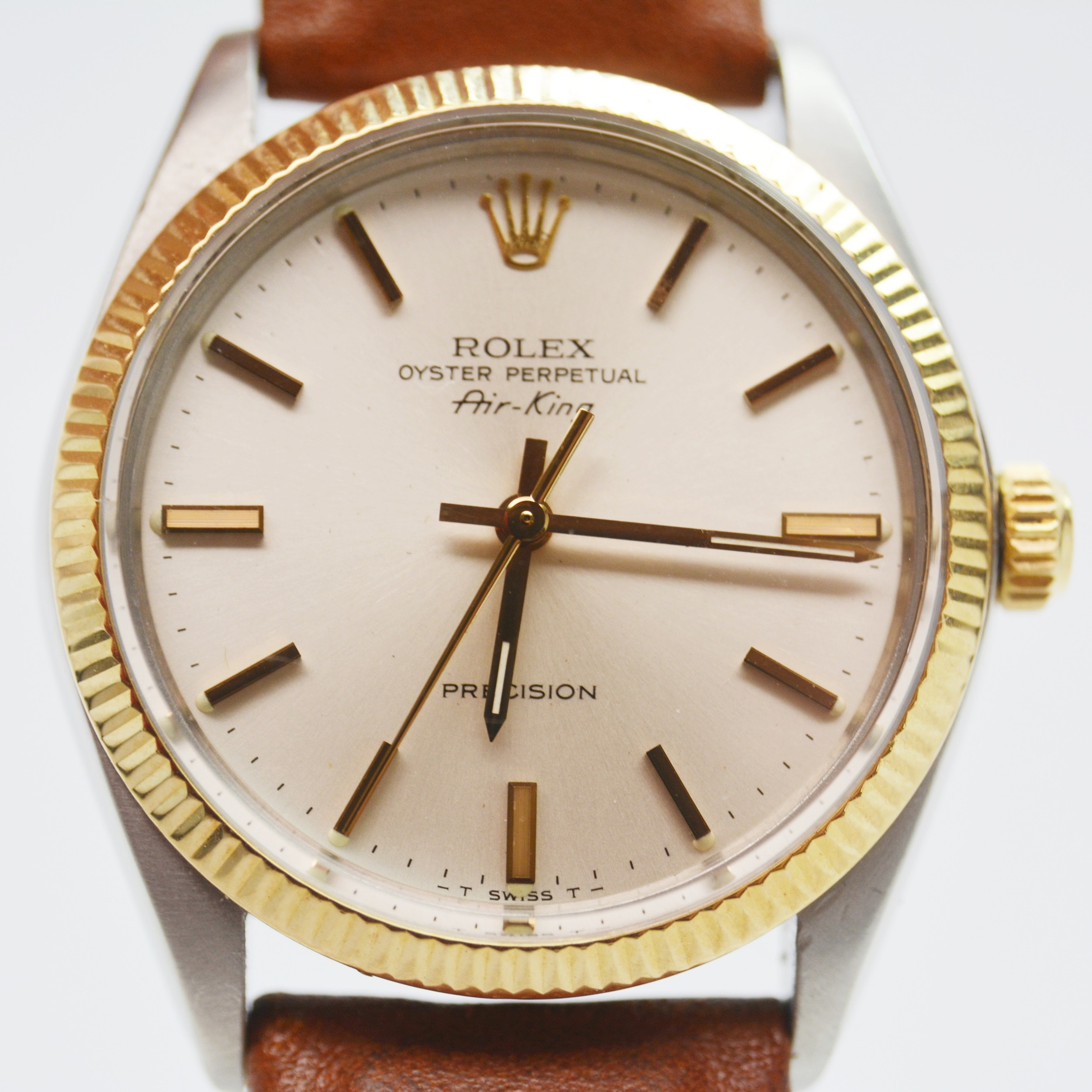 Rolex 14K Yellow Gold Oyster Perpetual Air-King Precision Wristwatch