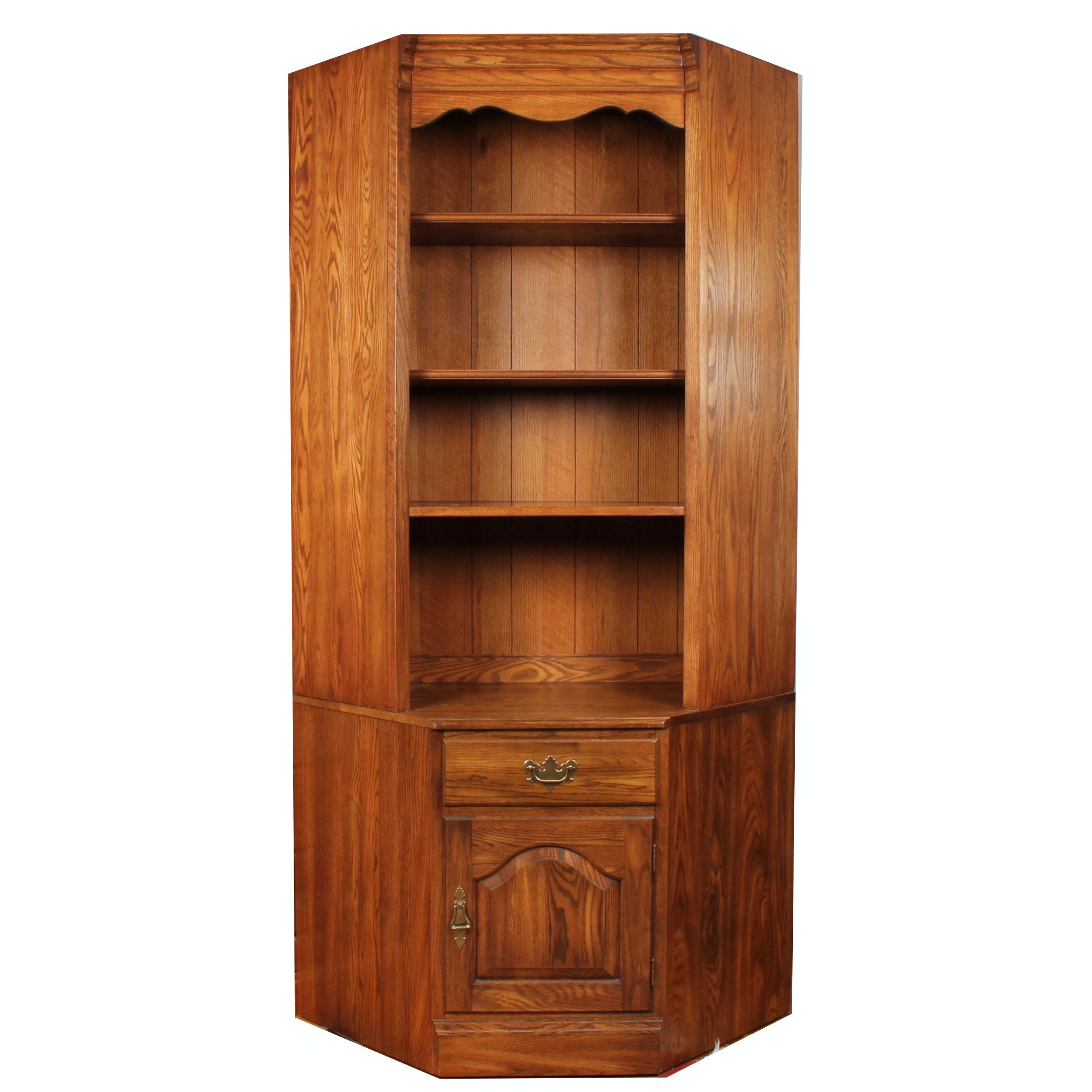 Vintage Pennsylvania House Wood Corner Cabinet