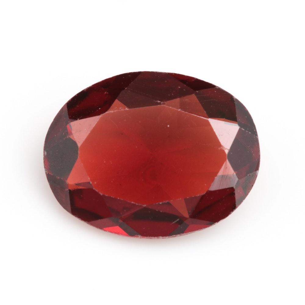 Loose 1.77 CT Garnet Gemstone