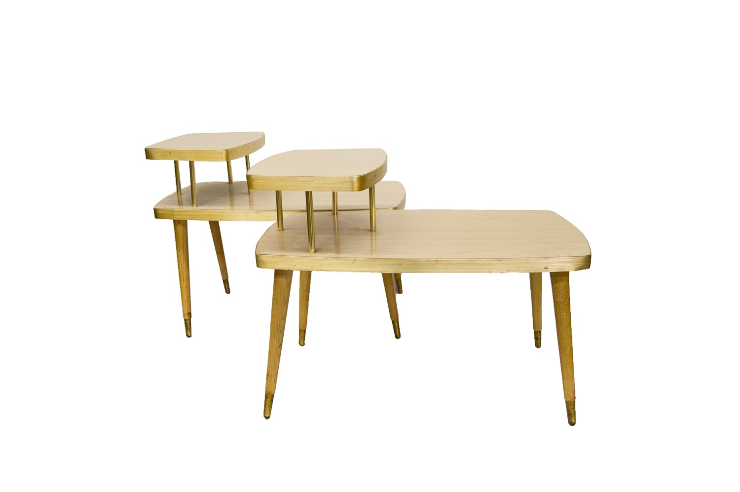 Mid Century Modern Step-Back End Tables
