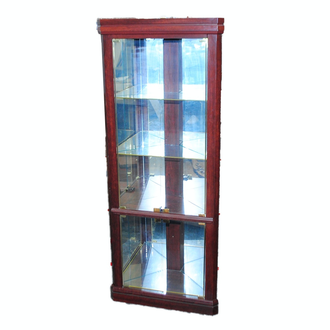 Cherry Finished Curio Cabinet
