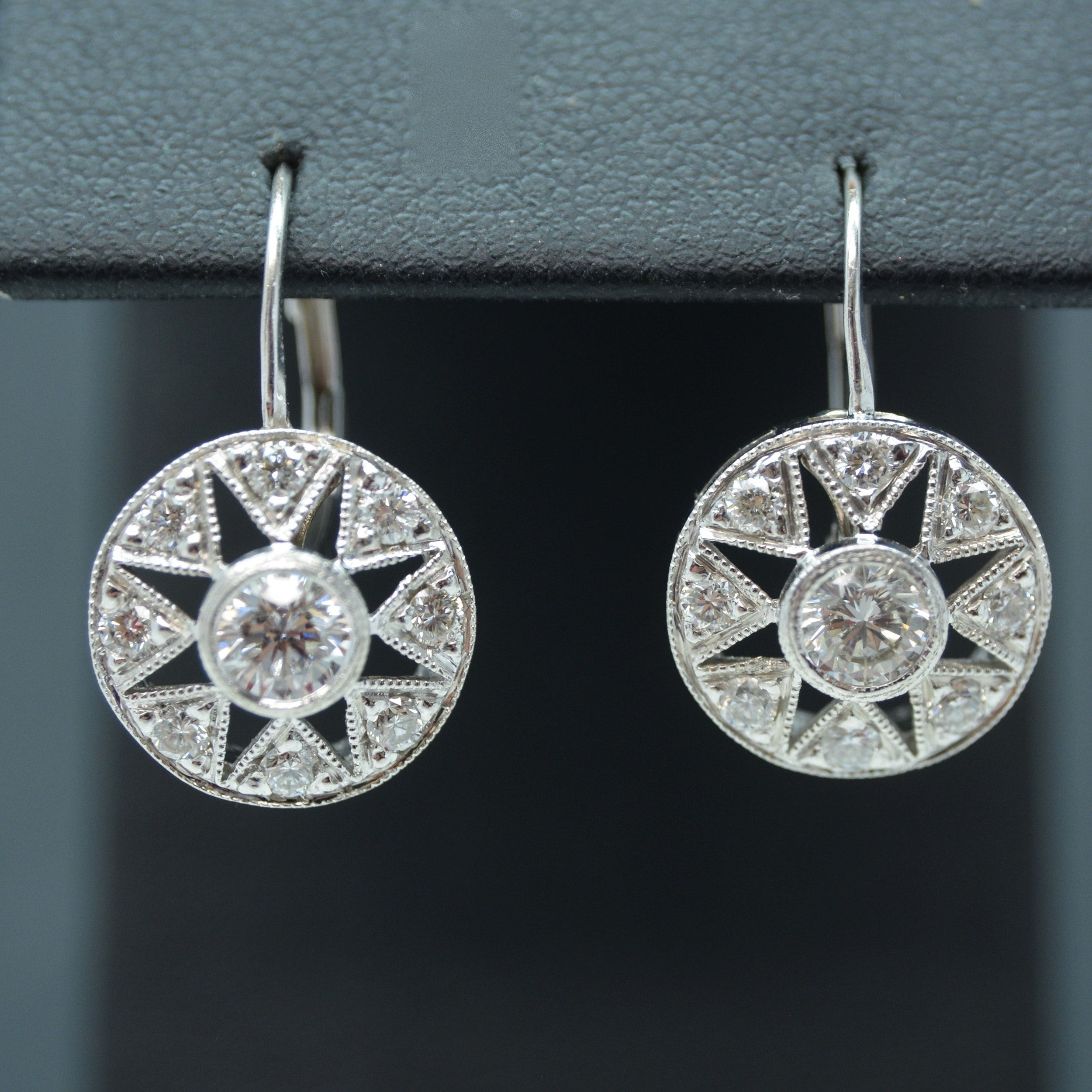 18K White Gold 1.18 CTW Diamond Earrings