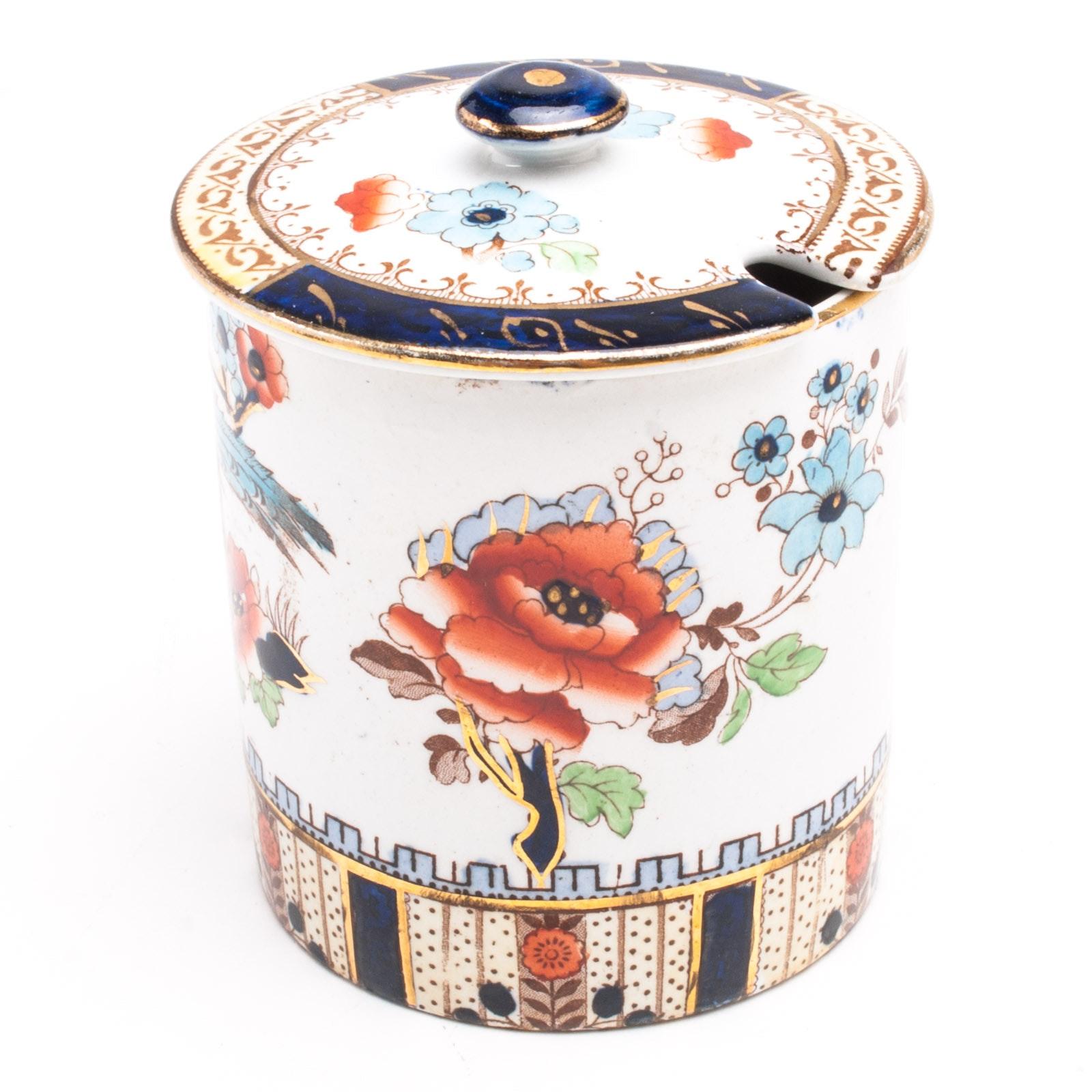 "Losol Ware ""Shanghai"" Hand Painted Sugar Bowl"