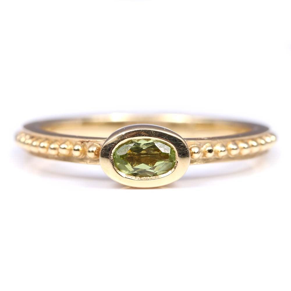 Gabriel & Co. 14K Yellow Gold Peridot Ring