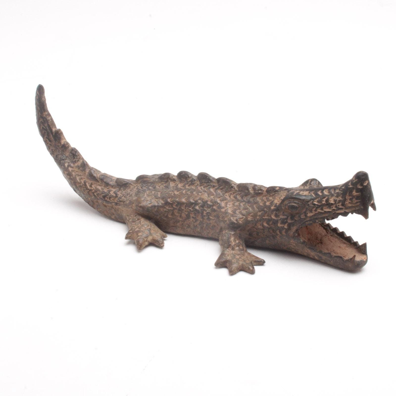 Metal Crocodile Sculpture