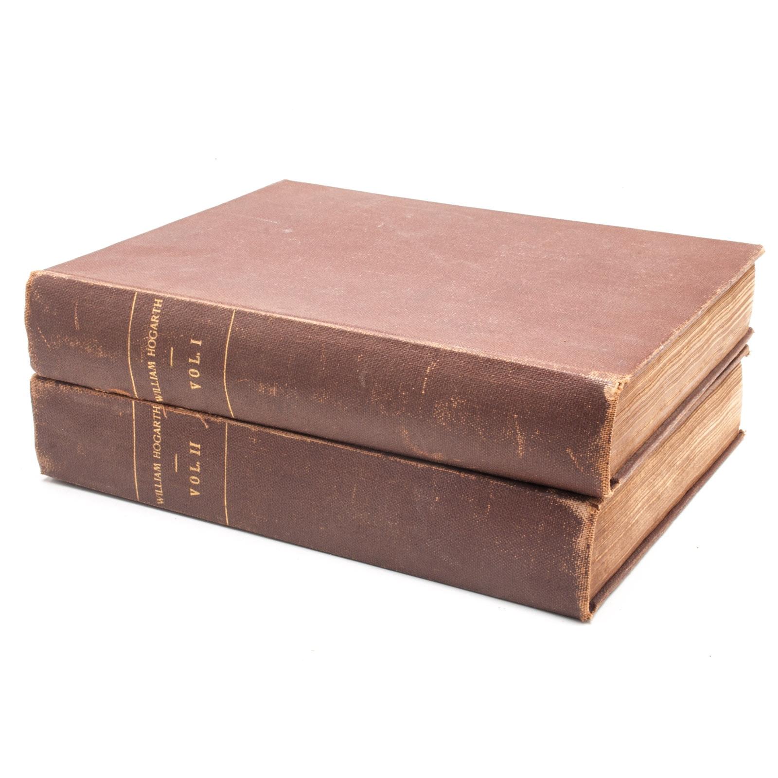 Pair of Antique Volumes of the Works of William Hogarth