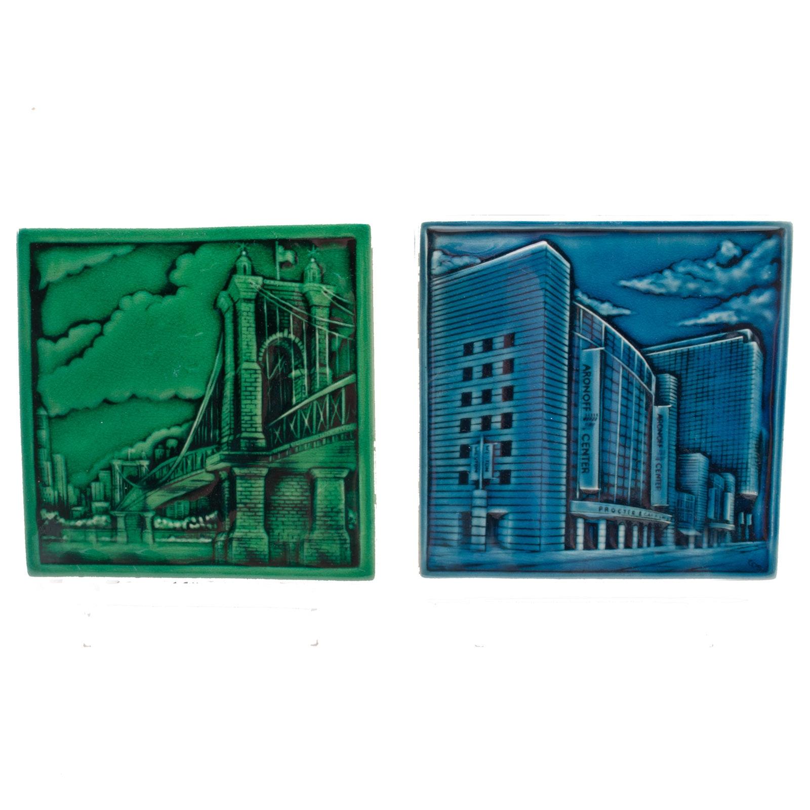 Rookwood Pottery Cincinnati Landmark Tiles