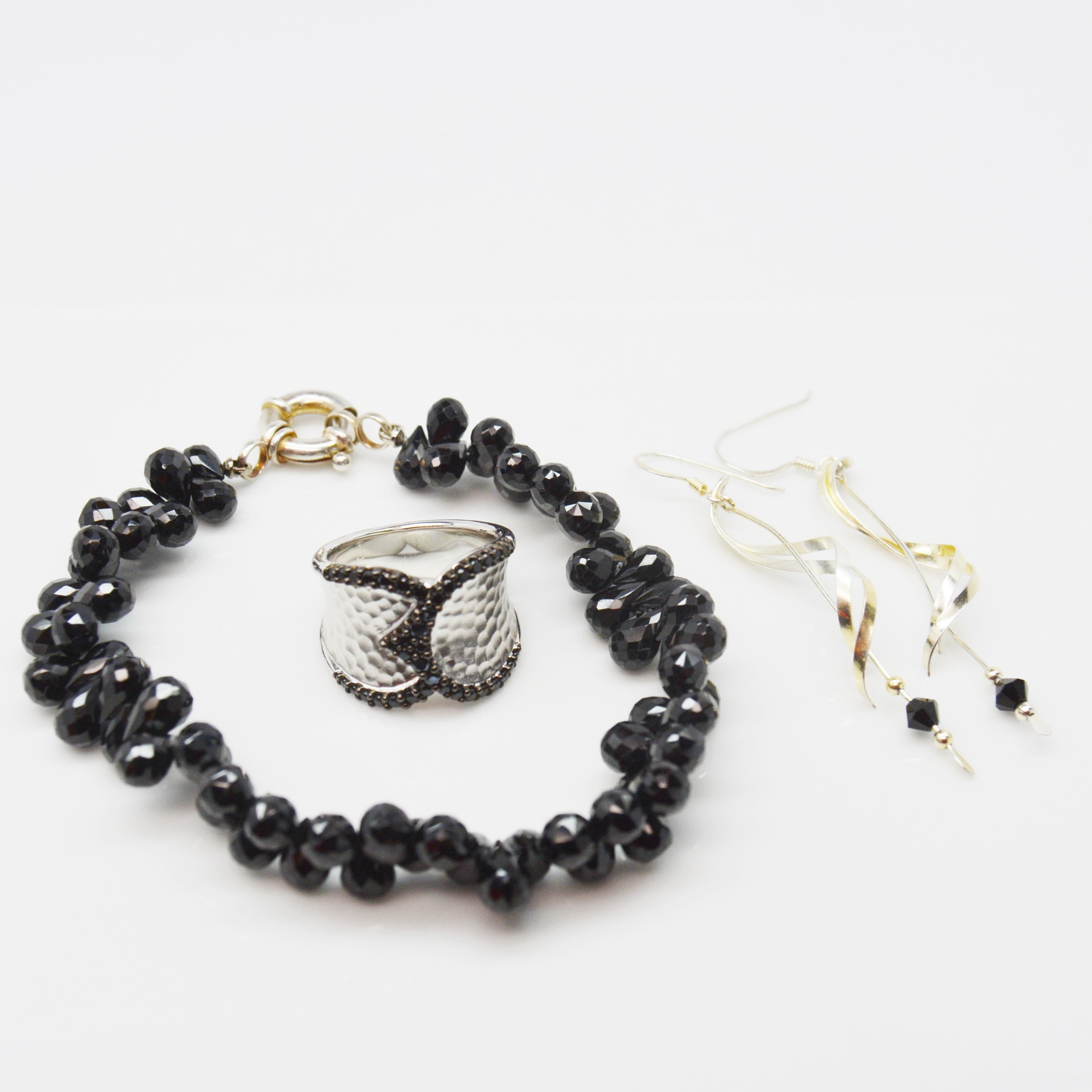 Sterling Silver Jewelry Featuring Black Onyx Gabriel & Company Ring
