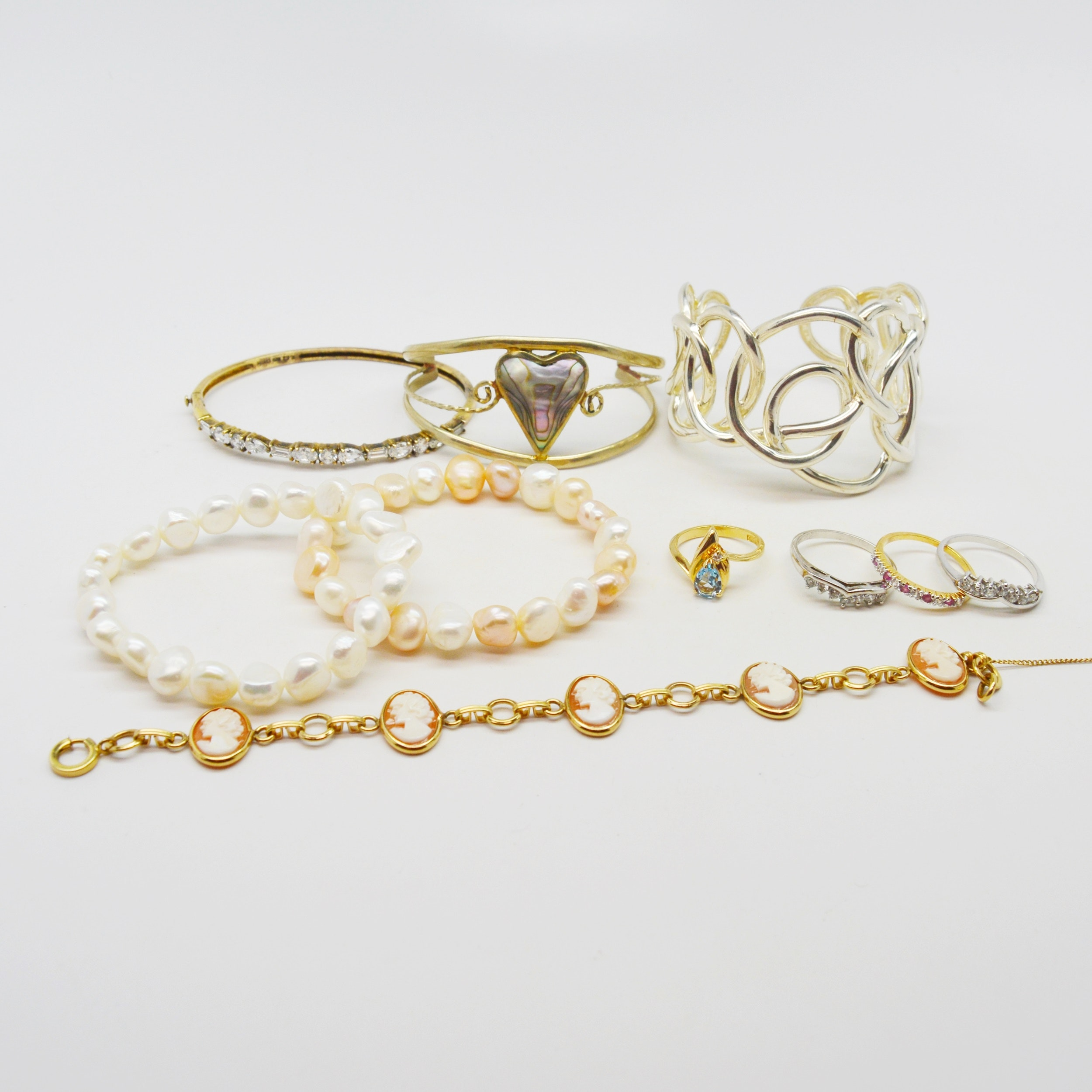 Collection of Bracelets and Rings