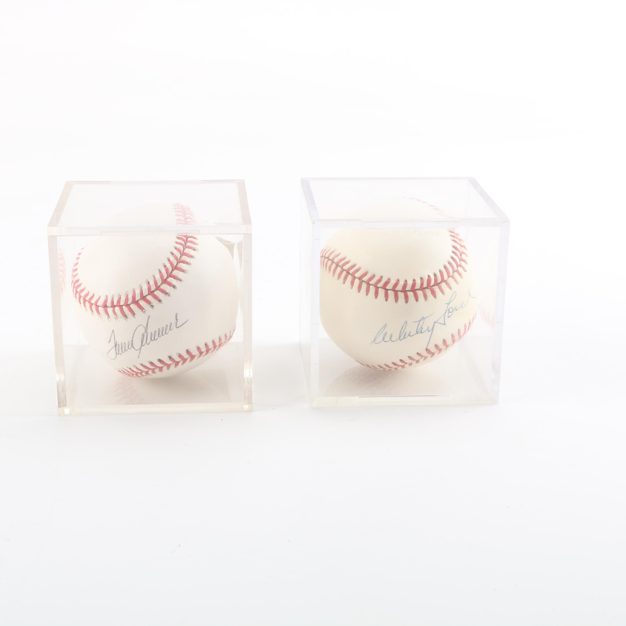 Tom Seaver and Whitey Ford Autographed Baseballs