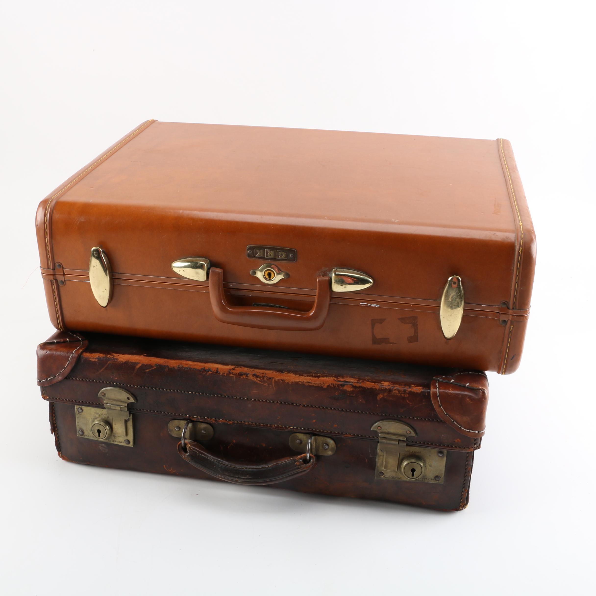 Vintage Samsonite and Cleghorn Suitcases