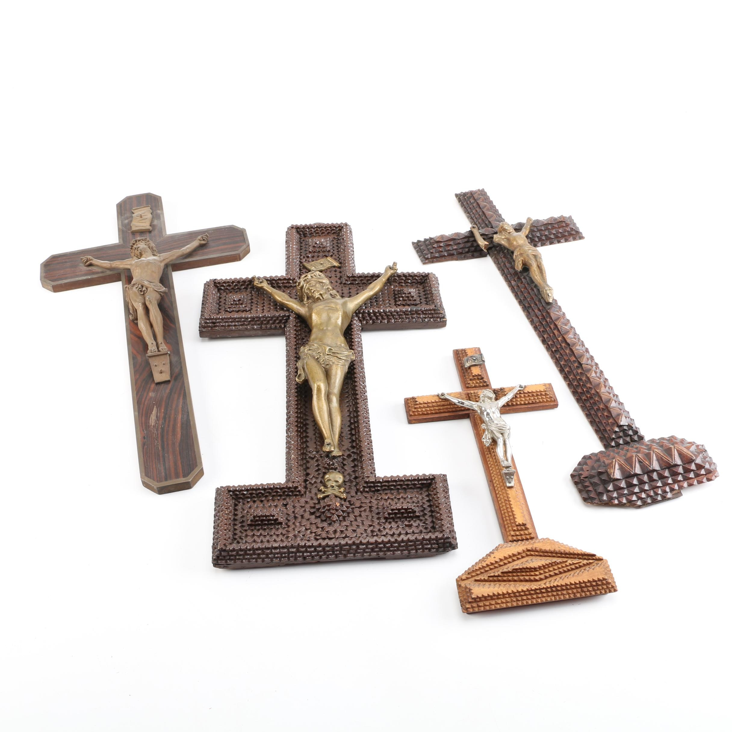 Vintage and Trap Art Crucifixes