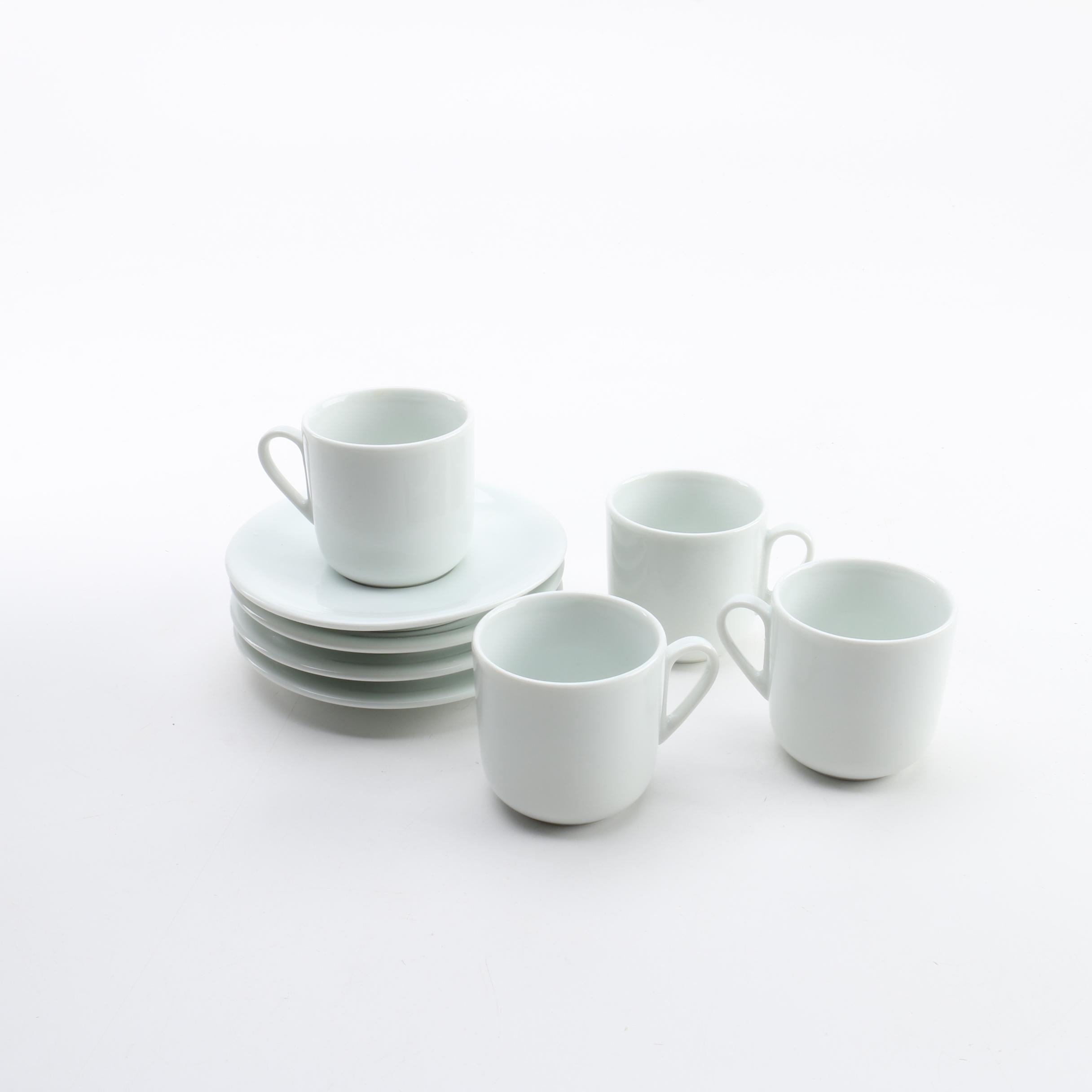 Vintage Italian Ceramic Espresso Cups and Saucers
