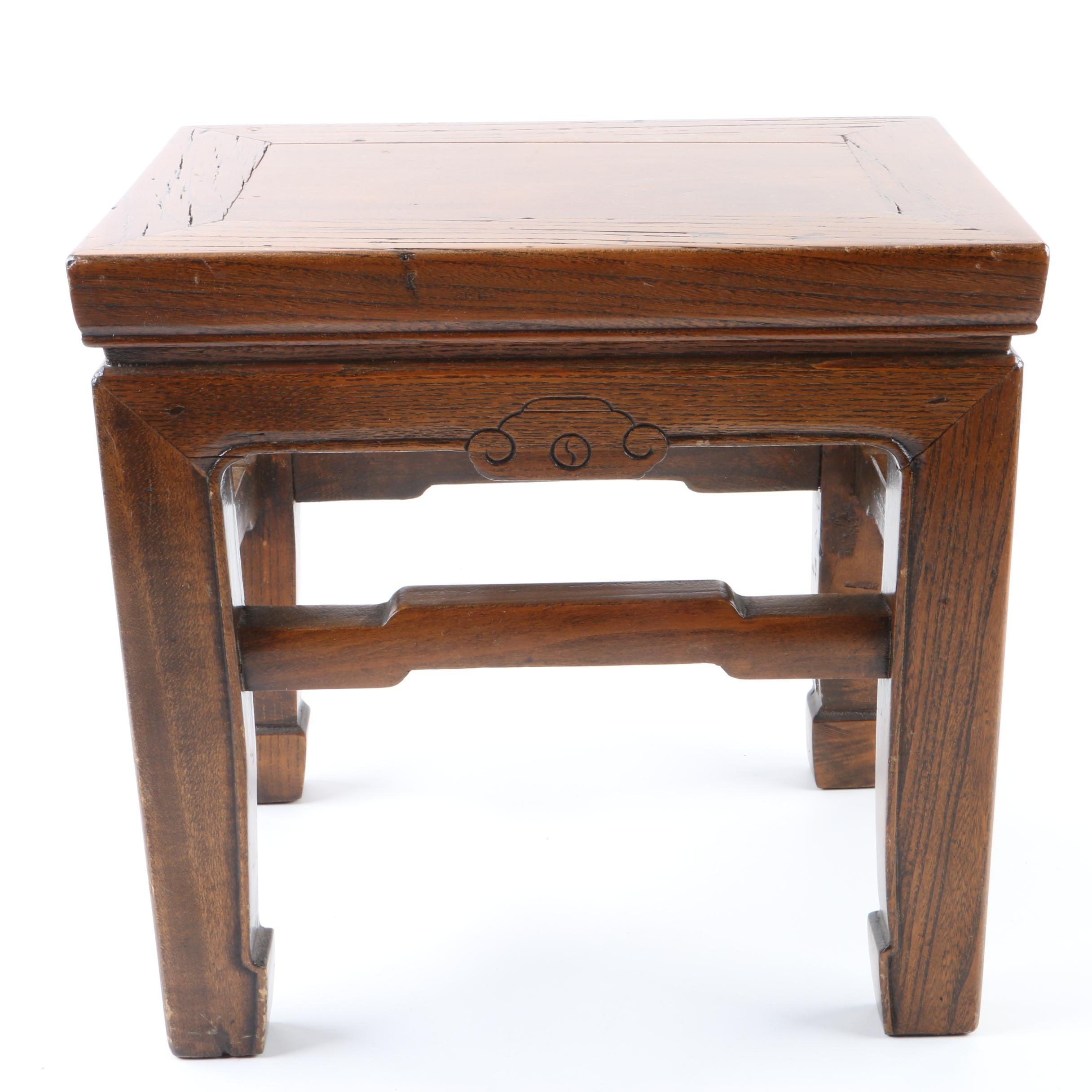 Ming Style Wooden Footstool