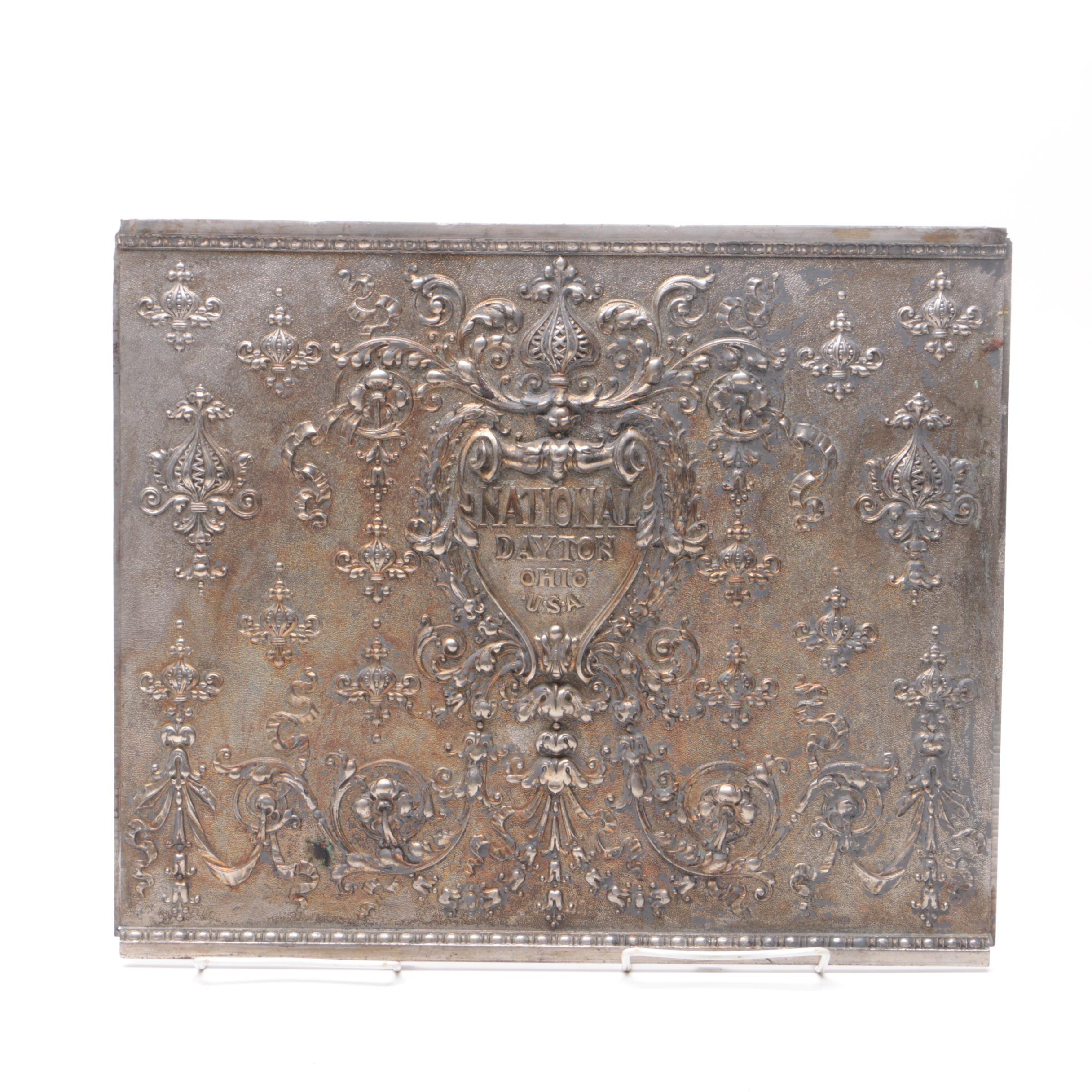 National Dayton Ohio Cash Register Plate