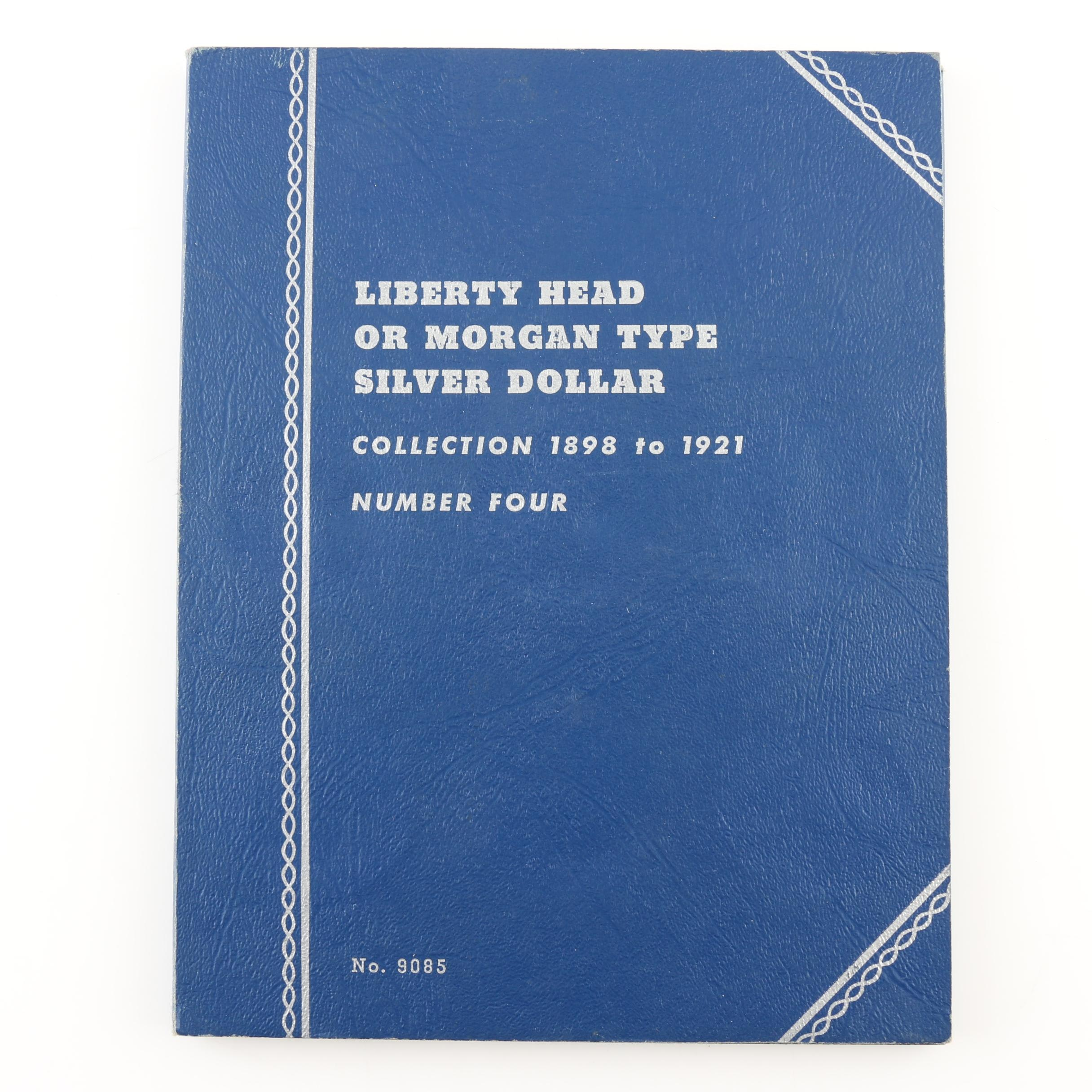 Group of 24 Silver Morgan Dollars in a Whitman Folder