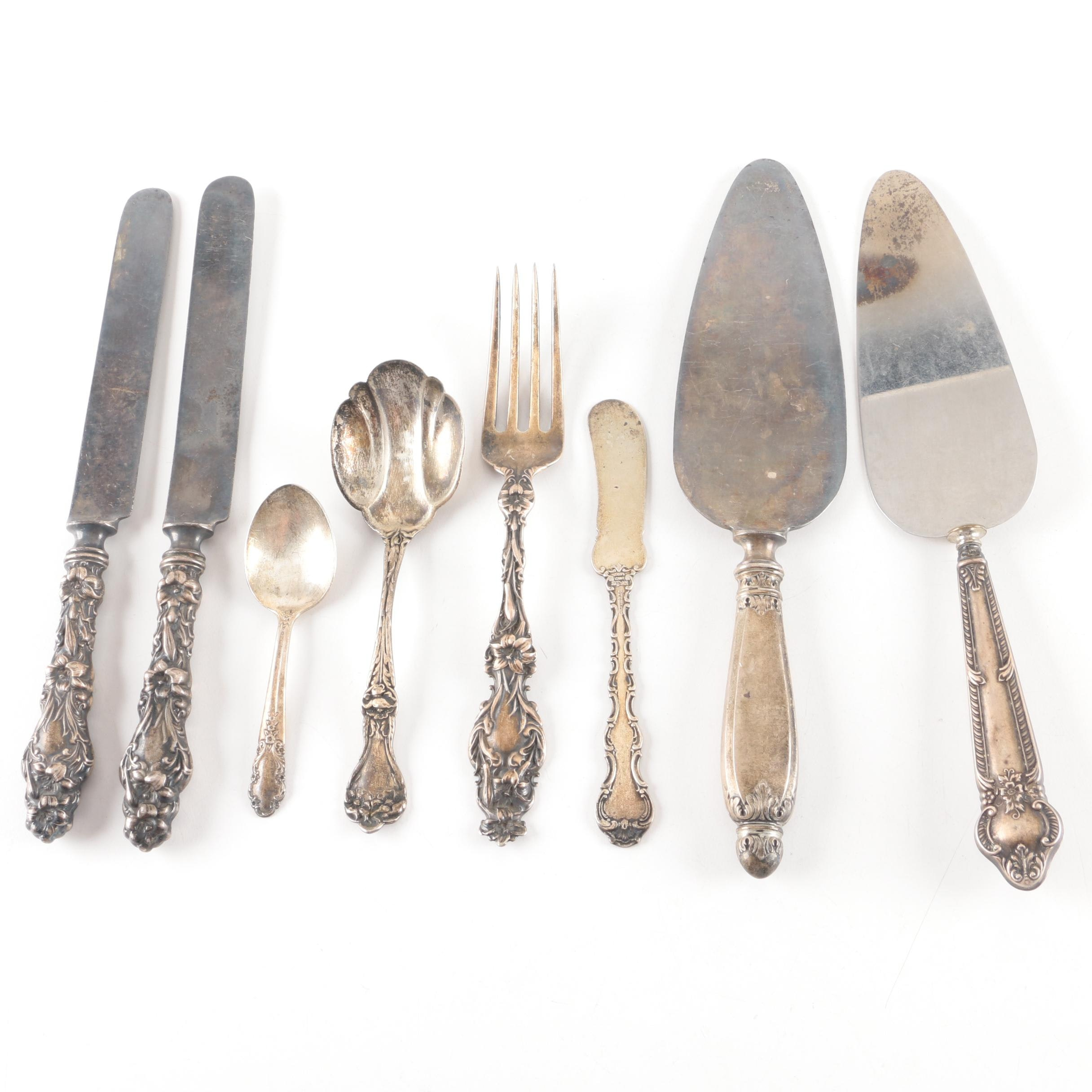 """Whiting Mfg. Co. """"Lily"""" and Other Sterling Silver Flatware"""