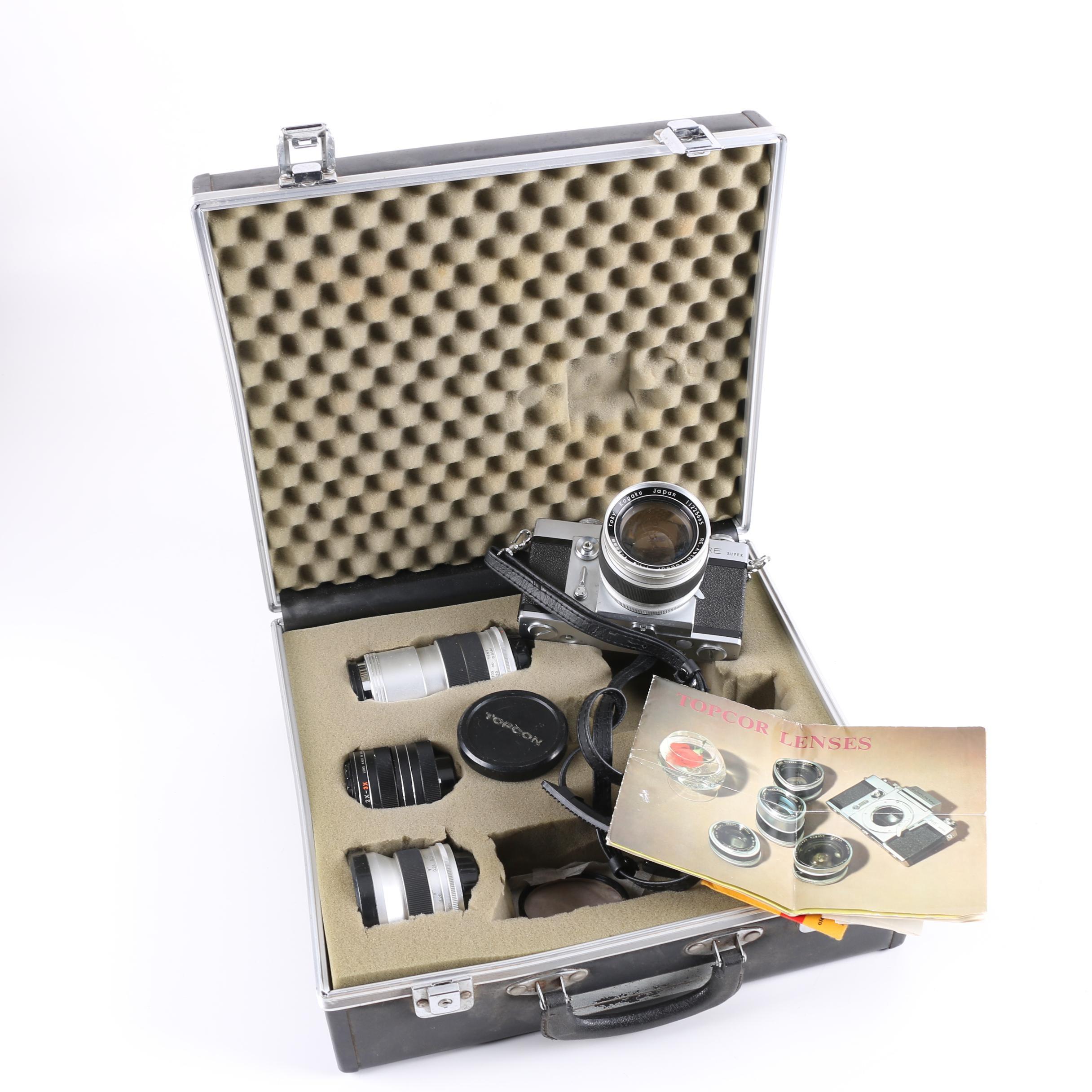 Topcon RE Super Camera with Case
