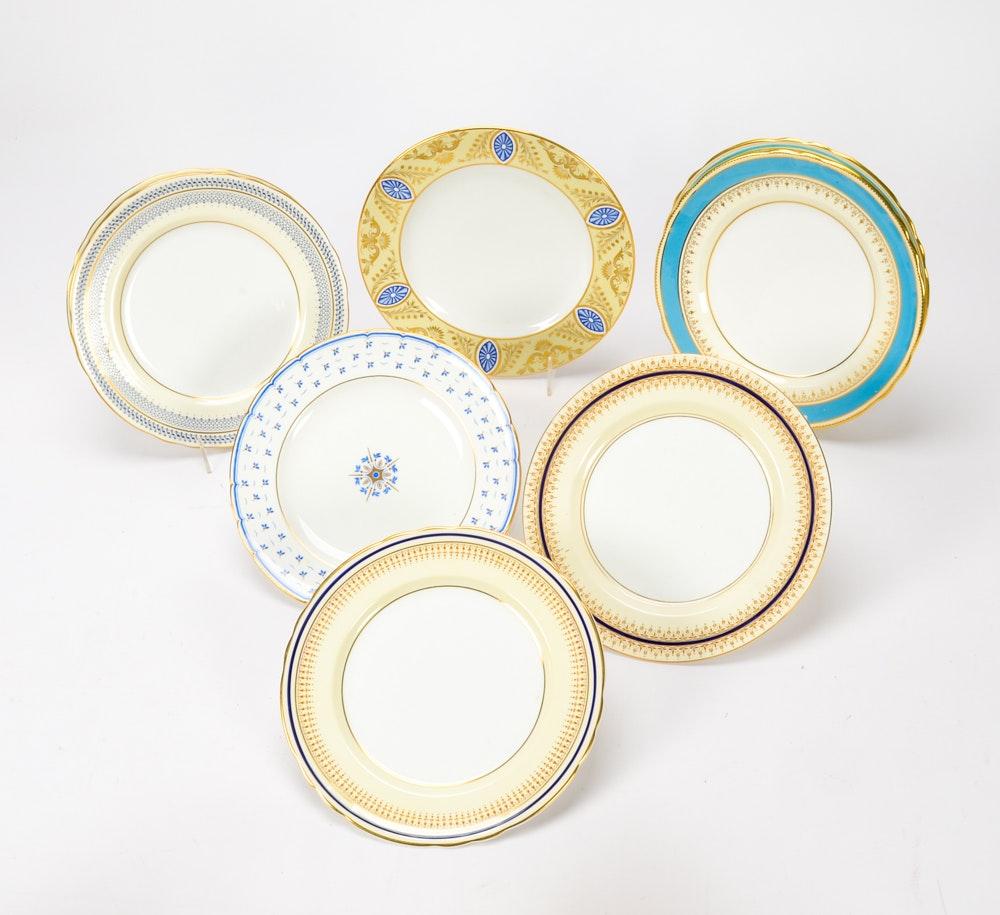 Collection of English Bone China Plates
