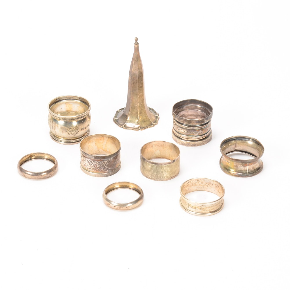 Assortment of Vintage Silver Plated Napkin Rings