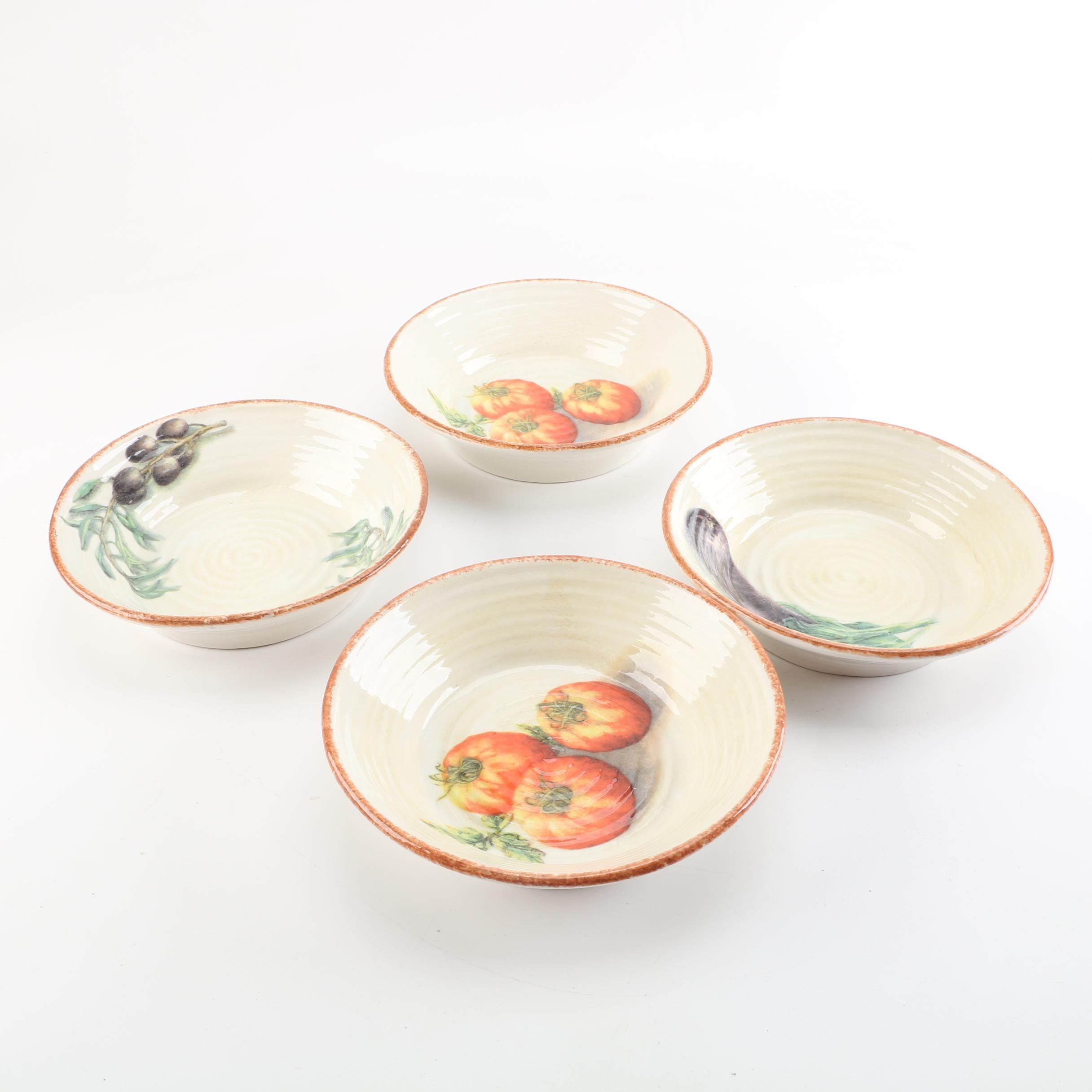 "Williams-Sonoma ""Jardin Potager"" Italian Pasta Bowls"