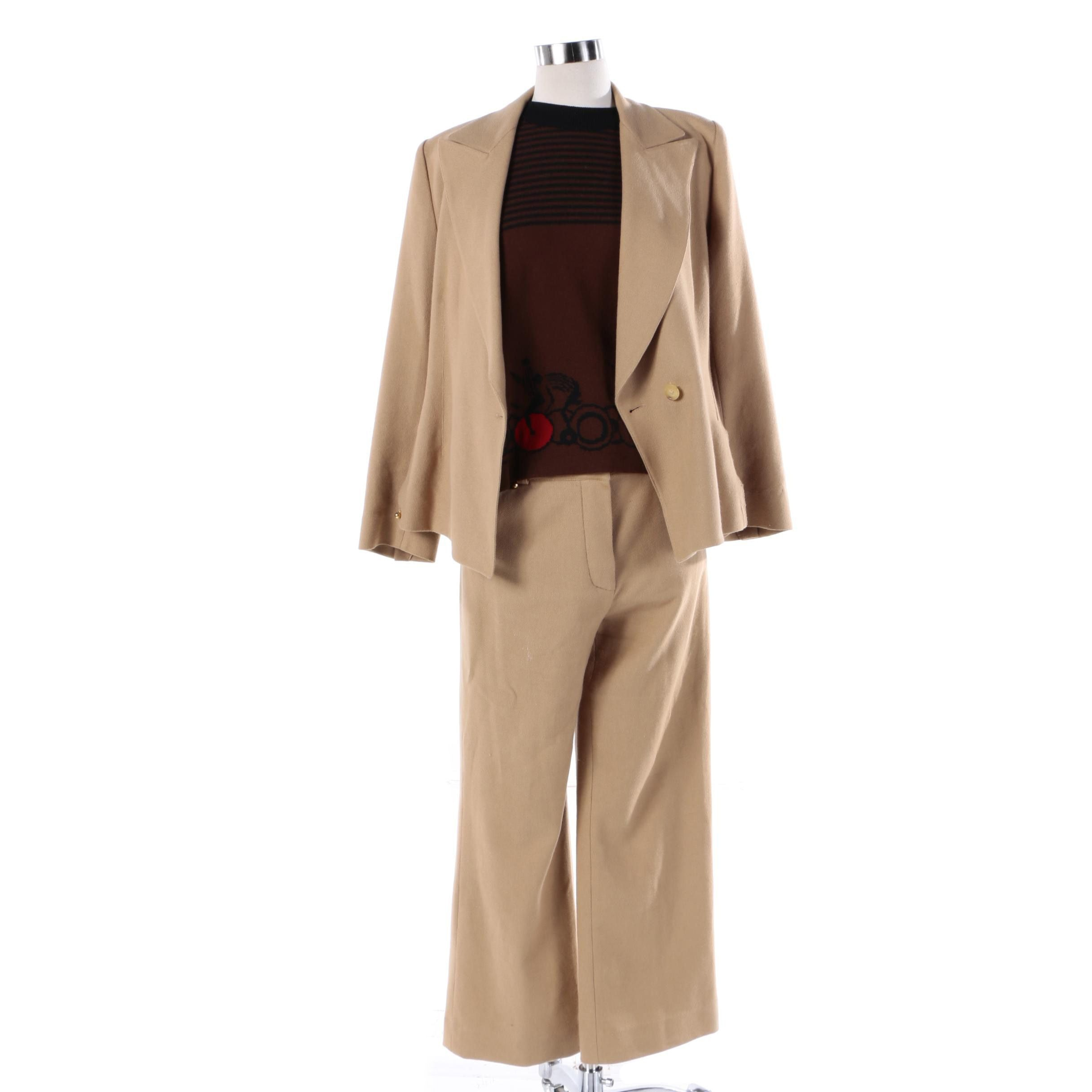 Sonia Rykiel Wool Pant Suit and Sweater