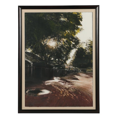 Mary Farrell 1991 Lithographic Monoprint