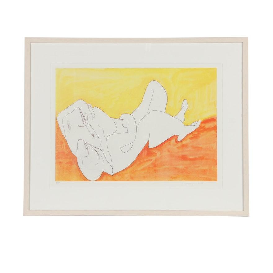 "Maria Lassnig Limited Edition Offset Lithograph ""Aus der Edition Friendship"""