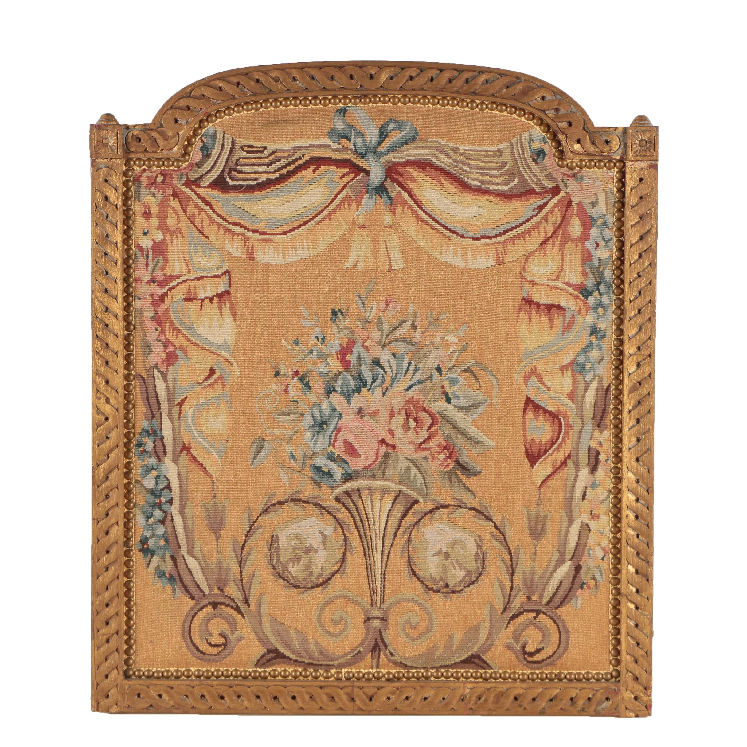 Framed Tapestry of Floral Bouquet