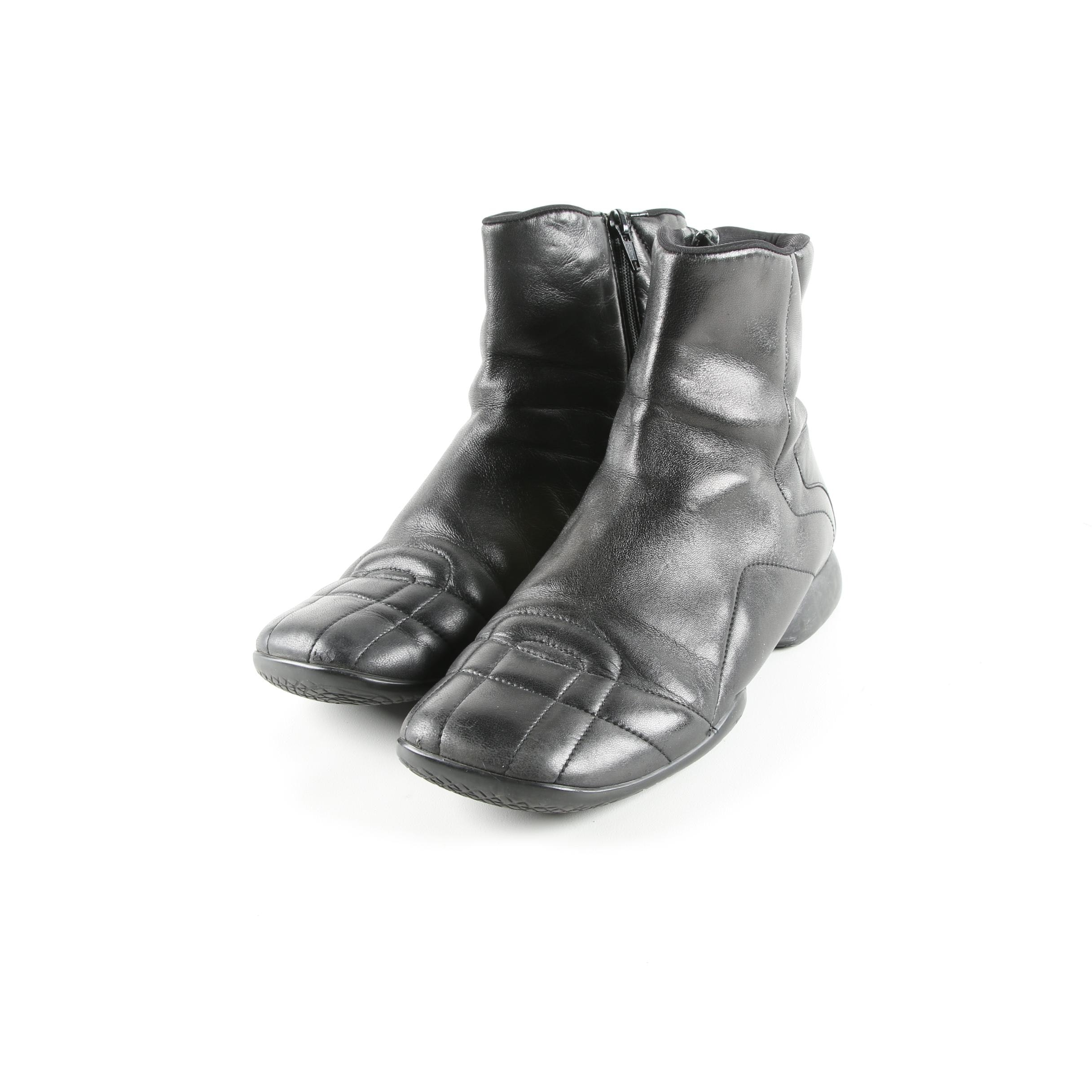 Women's Prada Black Leather Boots
