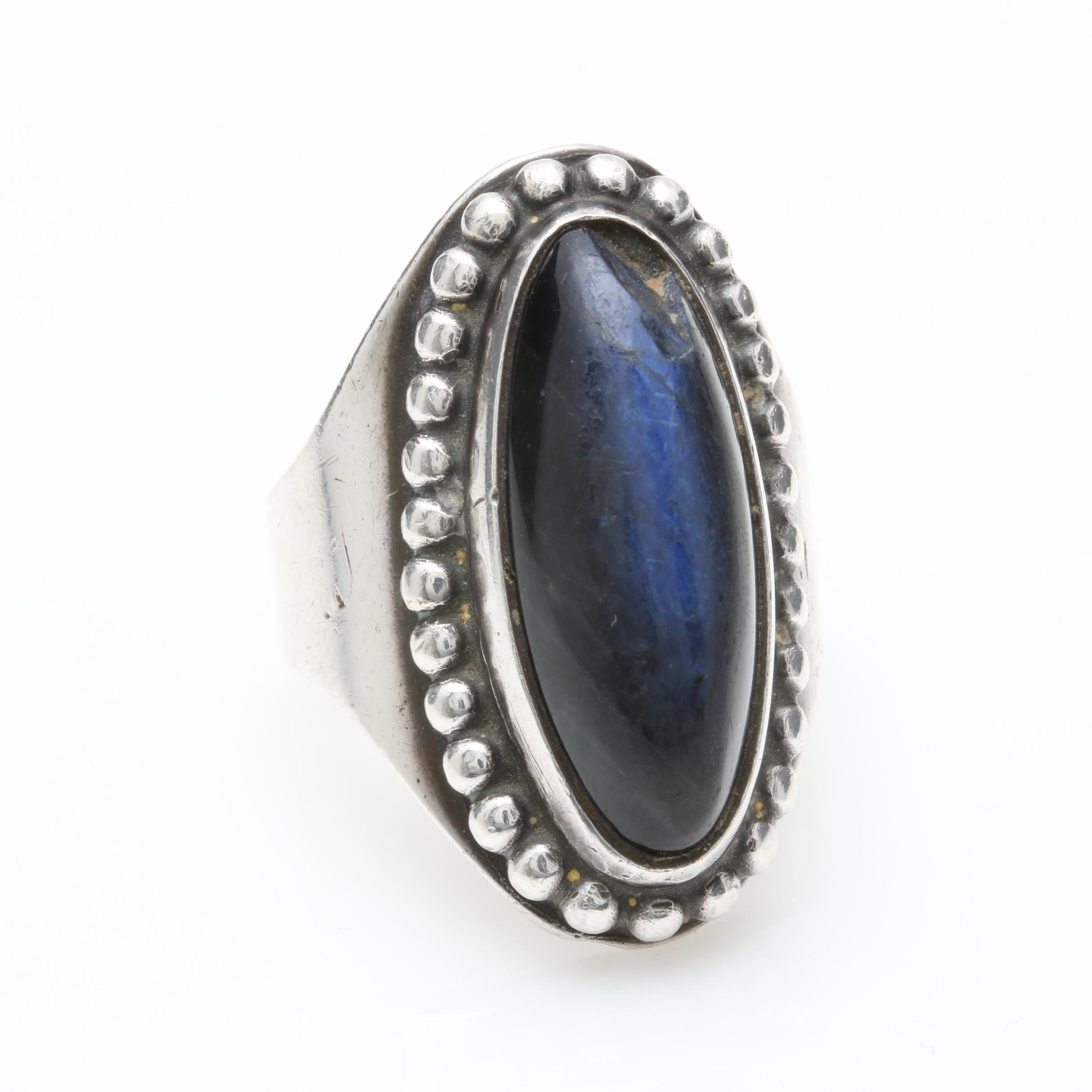 David Andersen Norwegian Sterling Silver Labradorite Ring